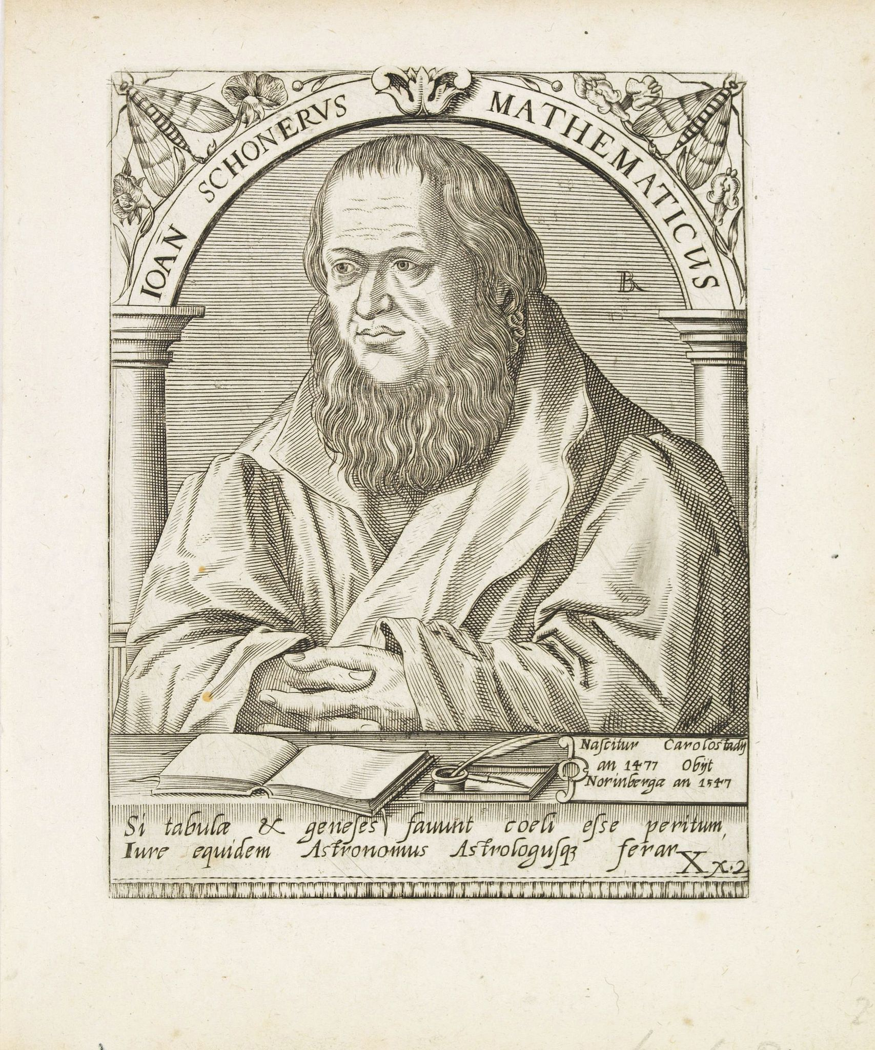 DE BRY, Th. -  Joan Schonerus Mathematicus.