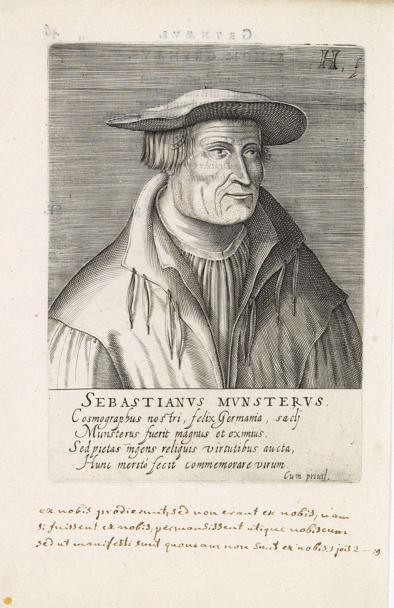 HONDIUS, H. -  Sebastienus Munsterus.