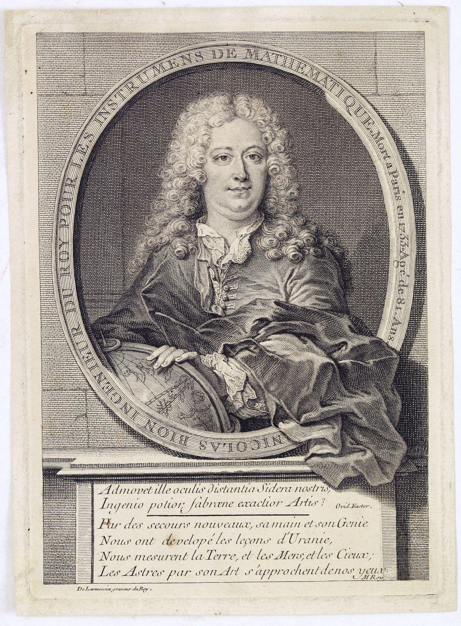 DE LAMERSSIN II, N. -  Nicolas Bion Ingenieur du Roy . . .