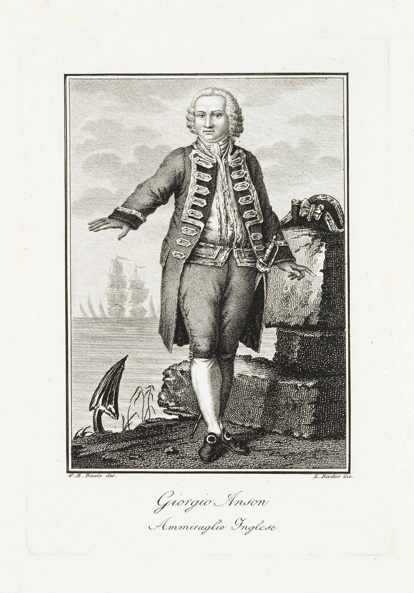 RADOS, L. -  Giorgio Anson Ammiraglio Inglese.