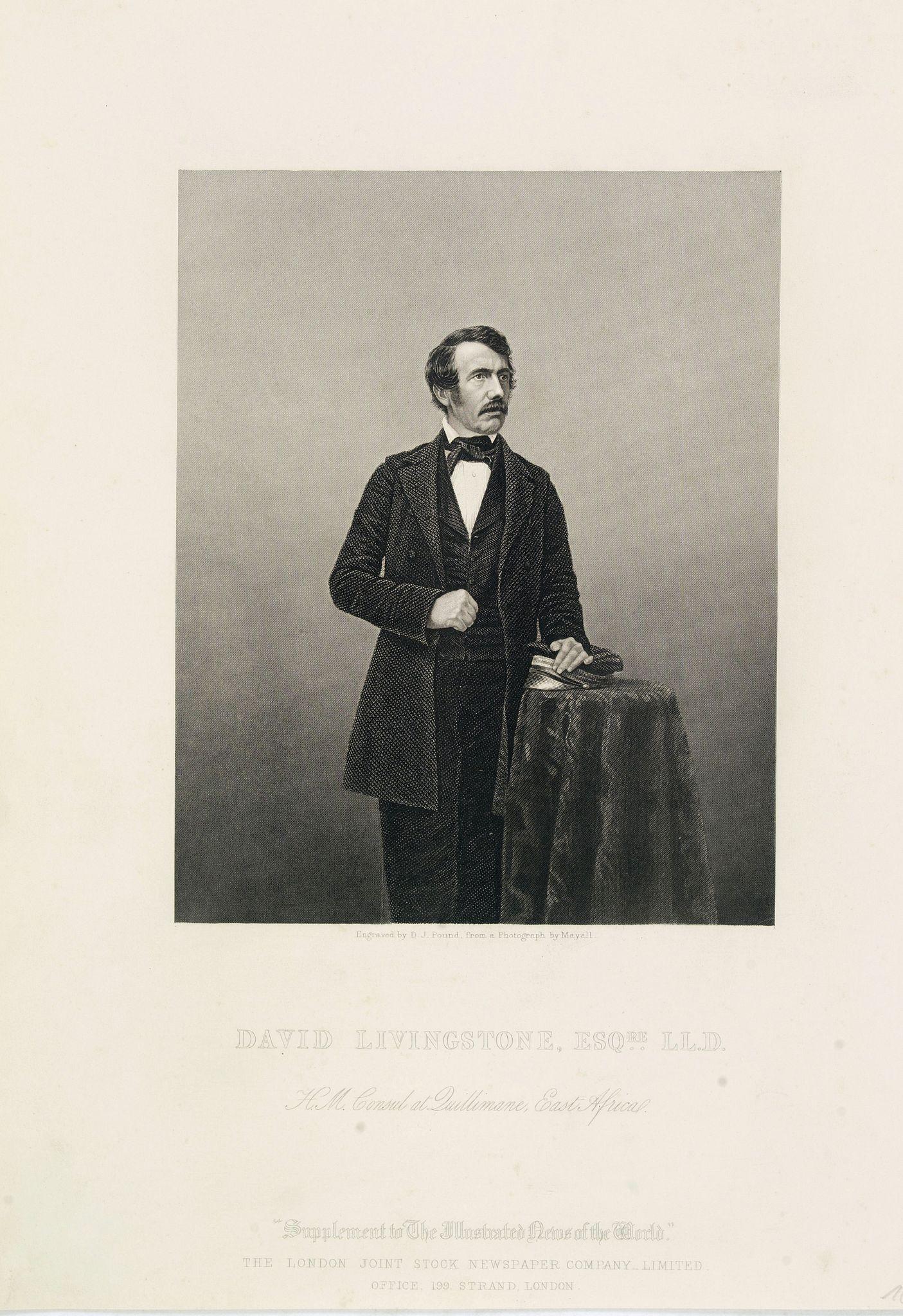 POUND, D.J. -  David Livingstone, ESQre L.L.D. H.M.Consul at Duillimane, East Africa.