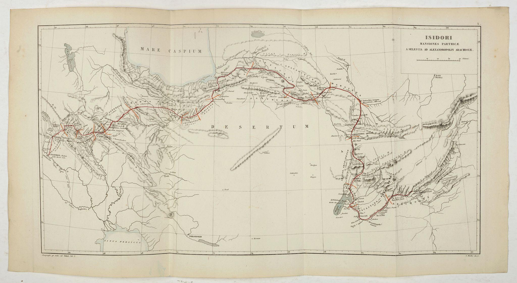 MULLER, K. W. L. -  Issidori mansiones parthicae a seleucia ad Alexandropolin archosiae.