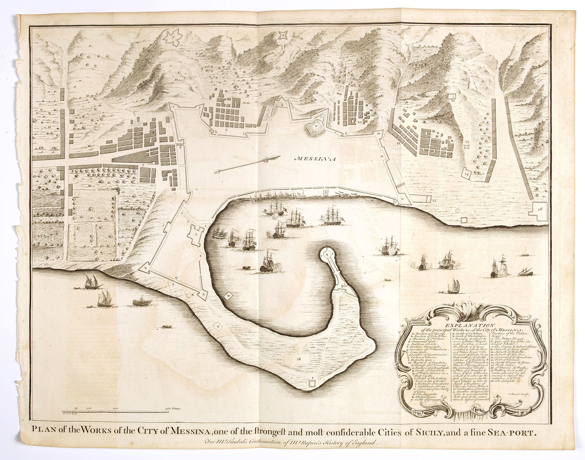 BASIRE,  J. -  Plan of the Works of the city of Messina . . .