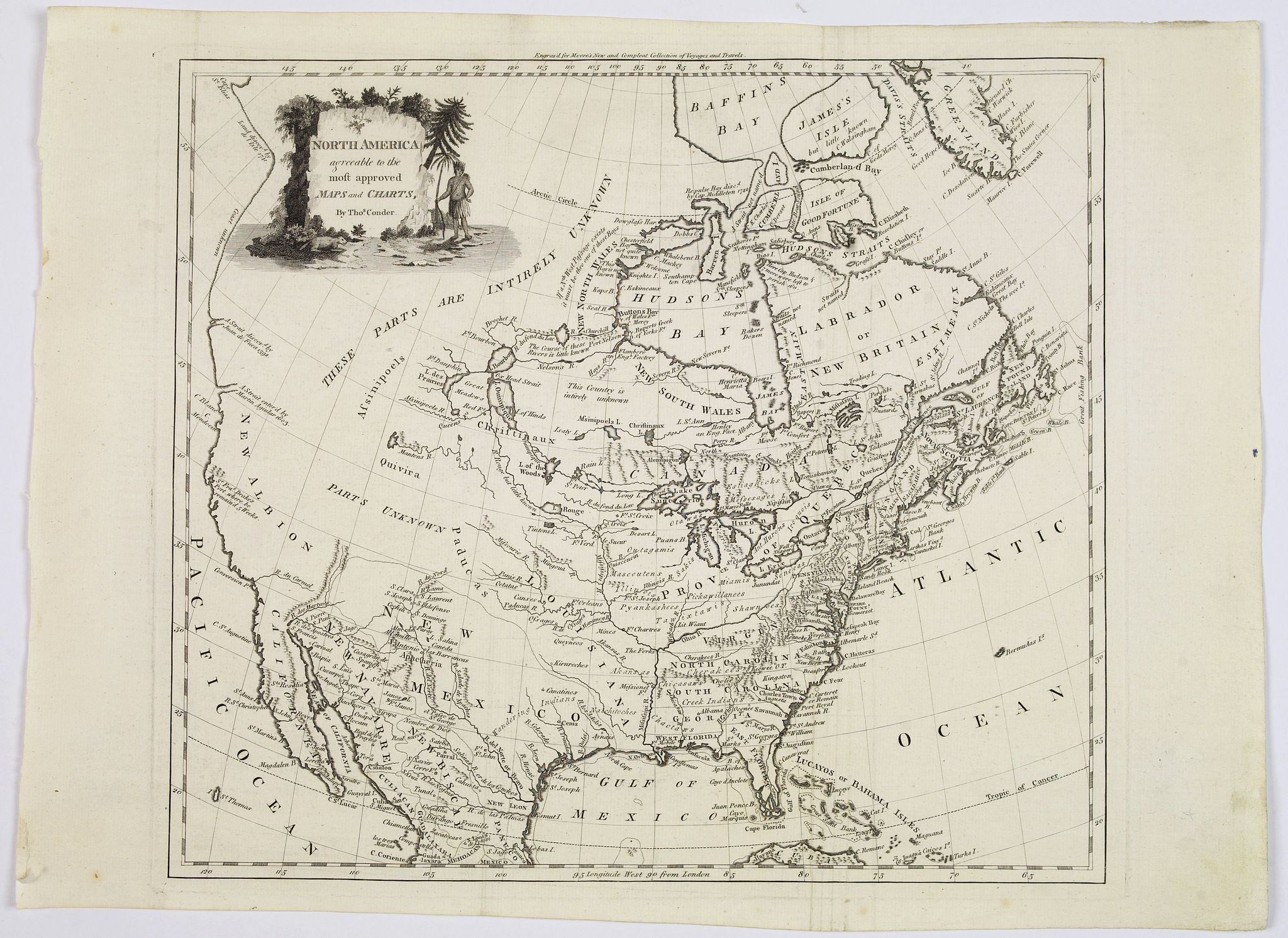 CONDER,Thomas. - North America agreeable to the most approved maps and charts. . .