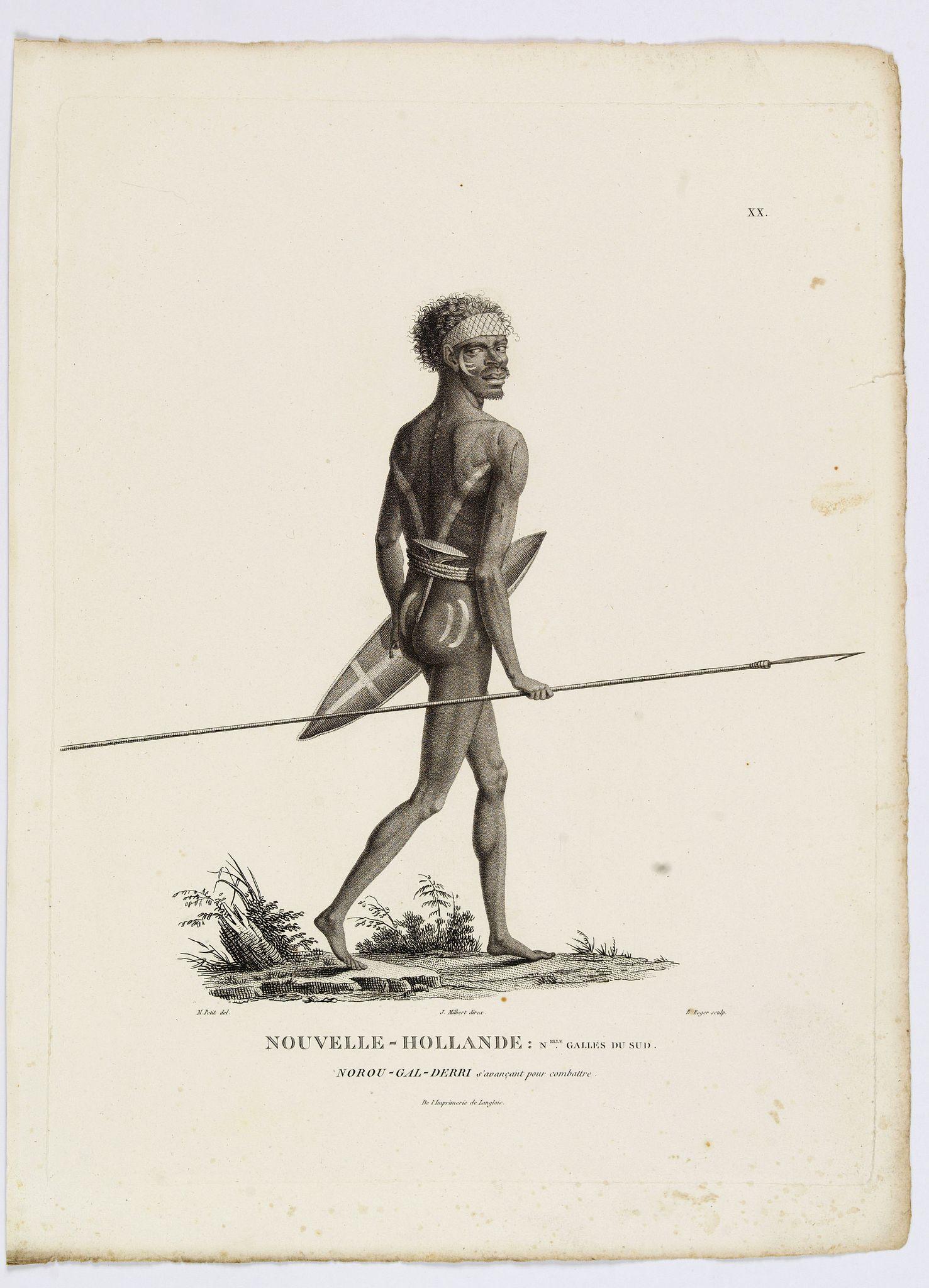 LESUEUR, C-A. / PERON, F. -  Nouvelle-Hollande. Nouvelle Galles du Sud. Norou-Gal-Derri. [plate XX]