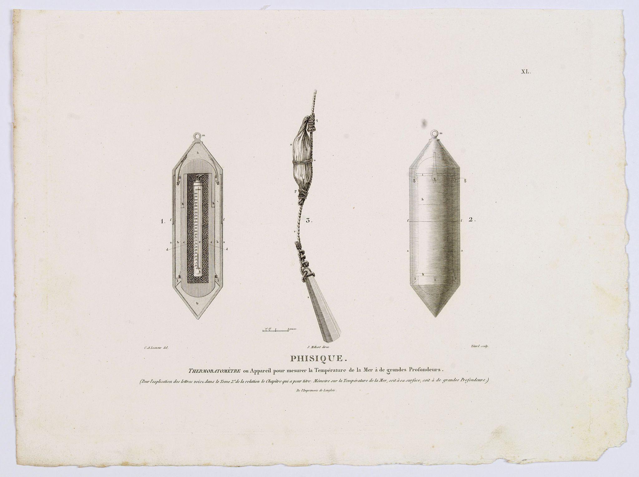 LESUEUR, C-A. / PERON, F. -  Phisique. [plate XL]