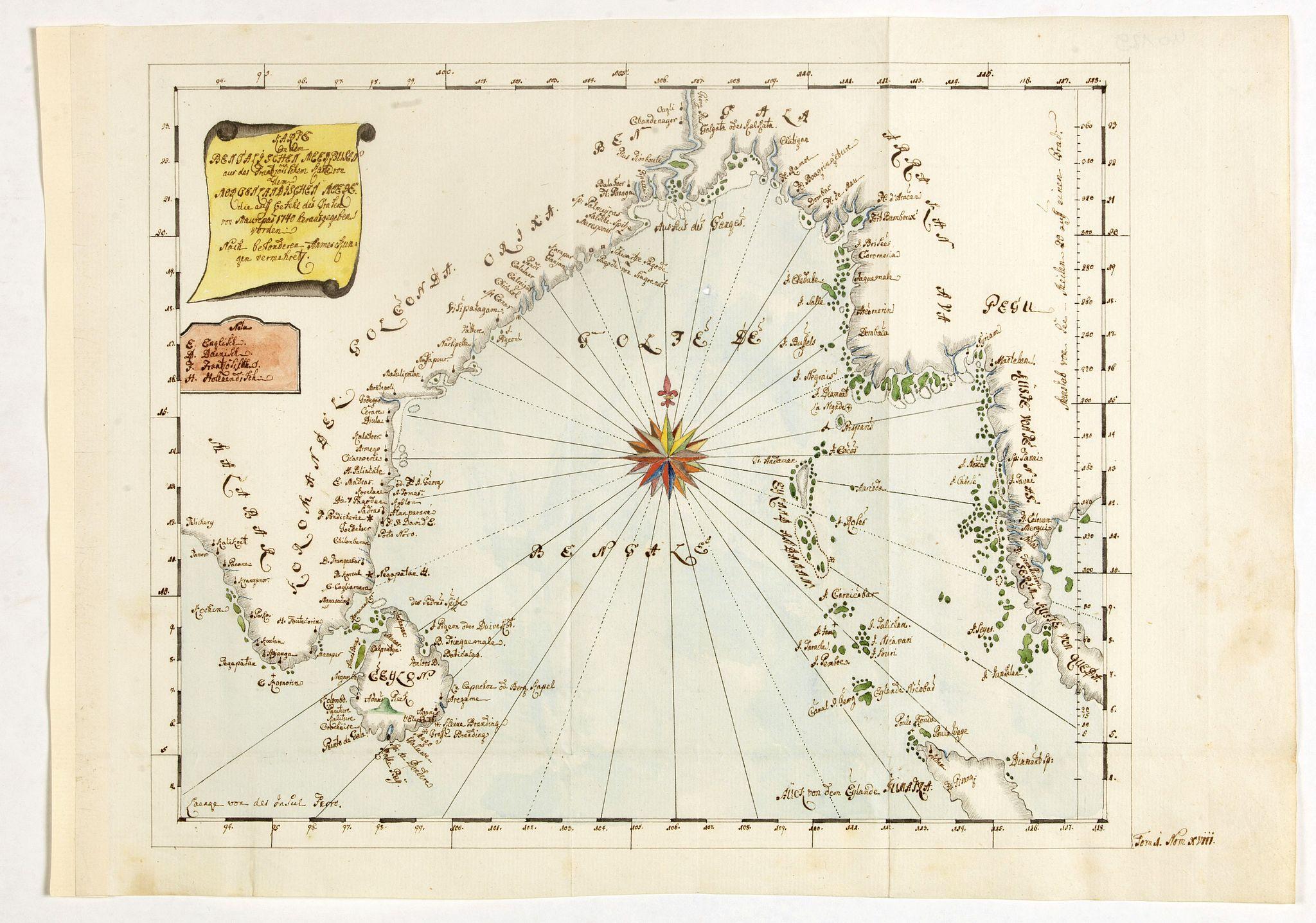 ANONYMOUS -  Karte von den Bengaslishen Meerbussen . . .