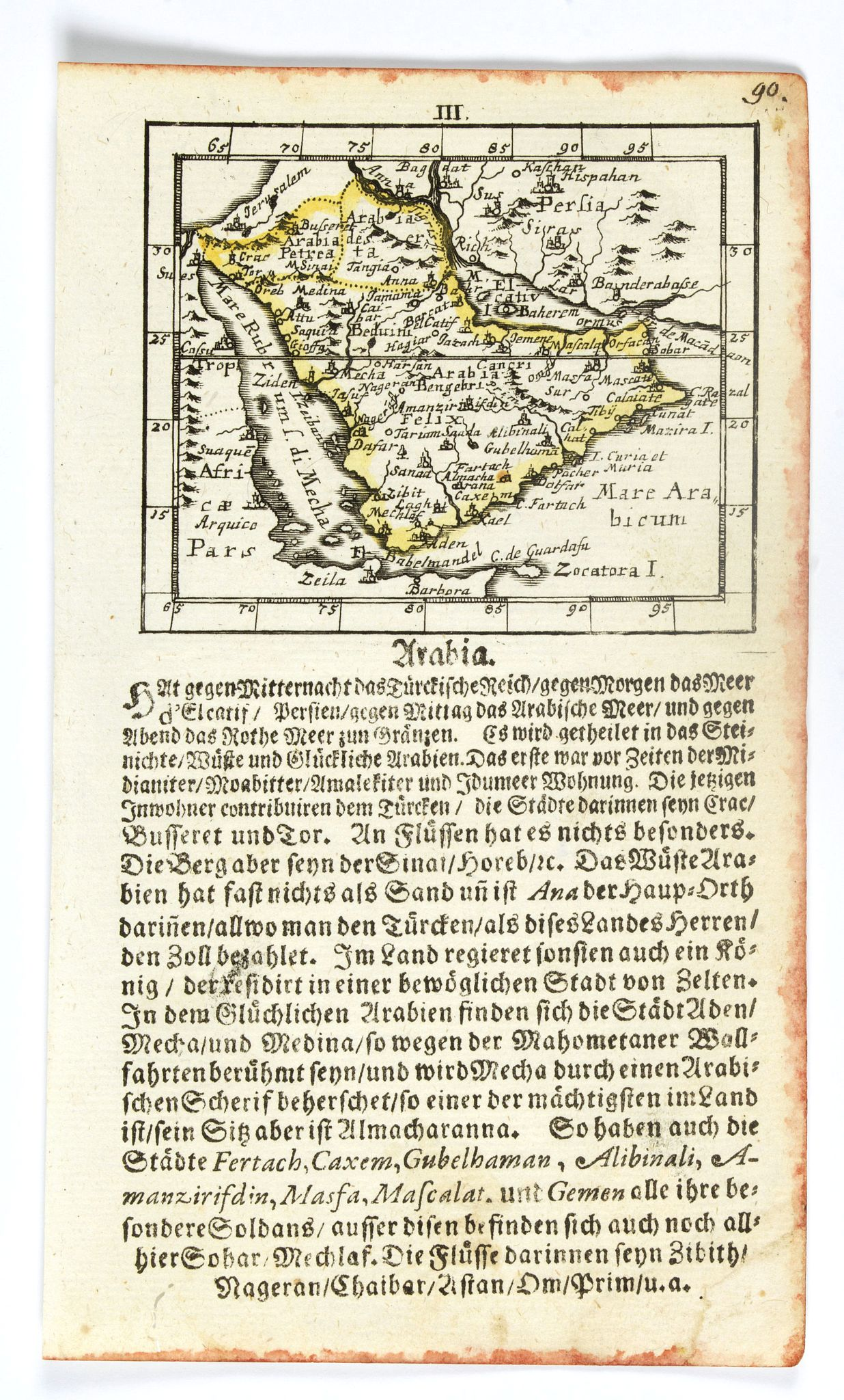 MÜLLER, J. U. -  [Arabia]