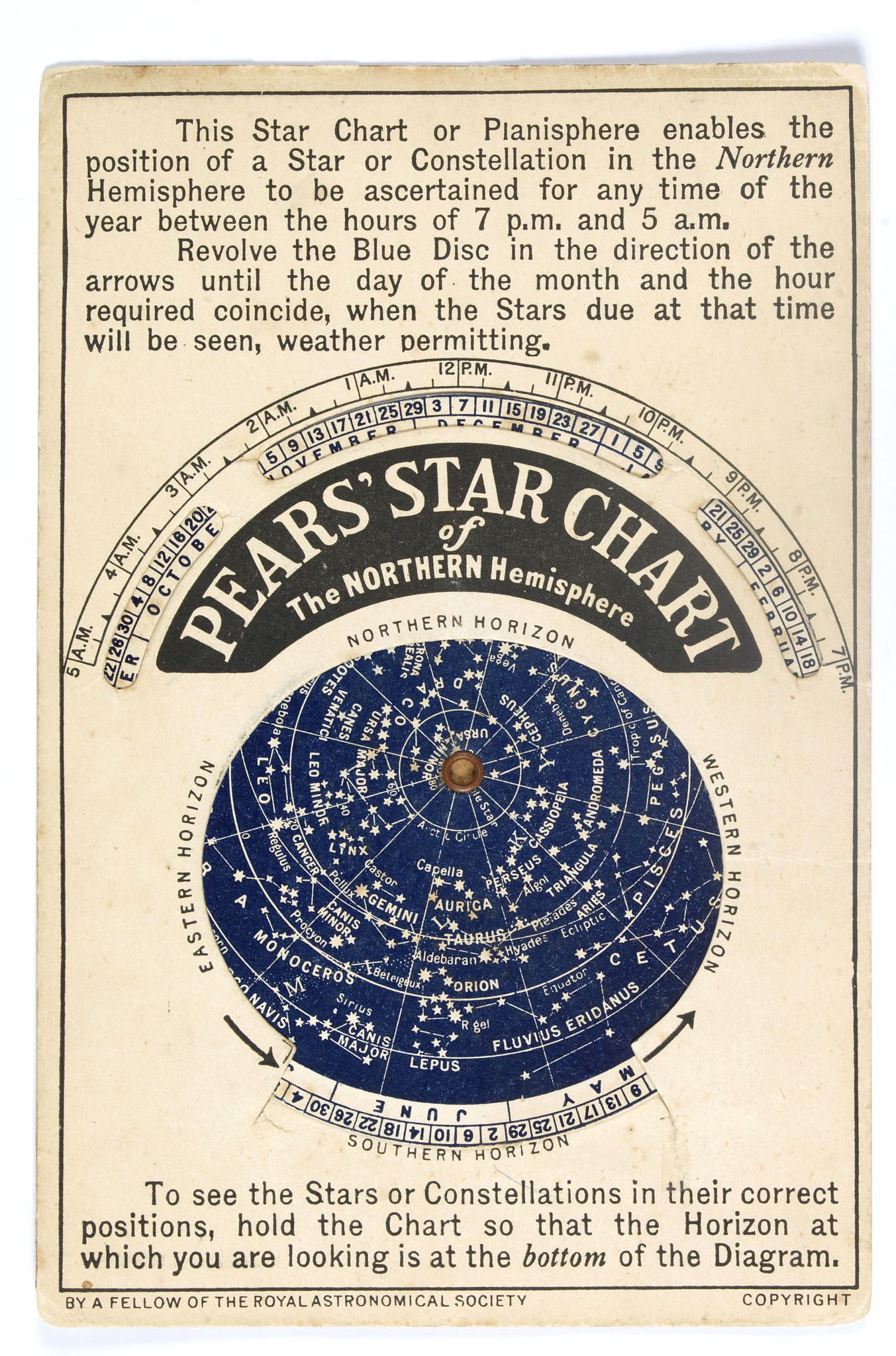 PEARS, A. / F. -  Pears' Star Chart of the Northern Hemisphere.