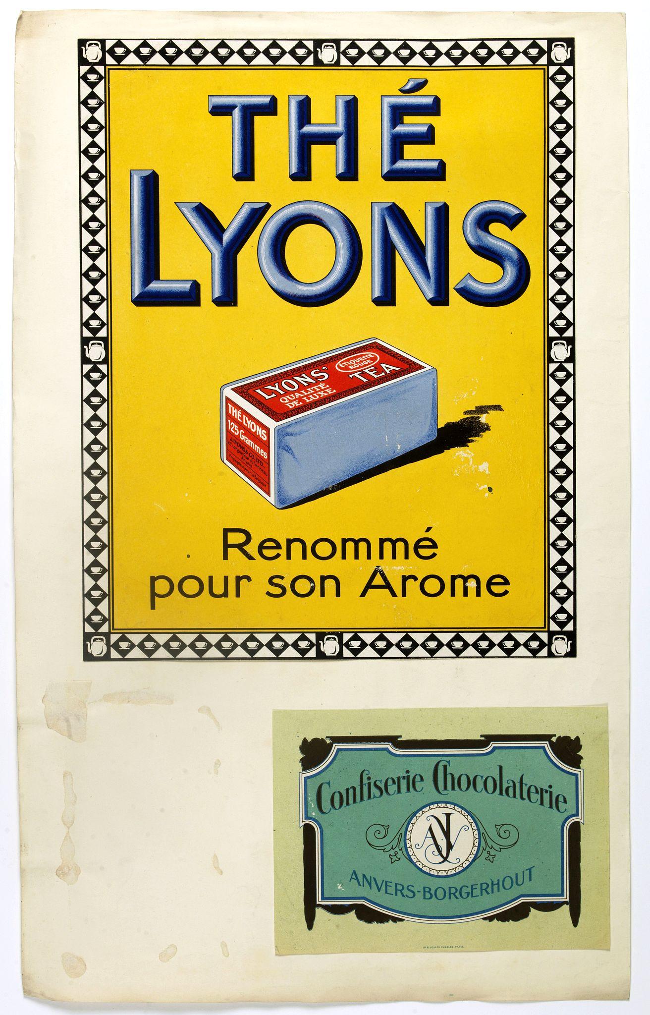 ANONYMOUS -  (Publicity.) Thé Lyons. Renommé pur son Arome.