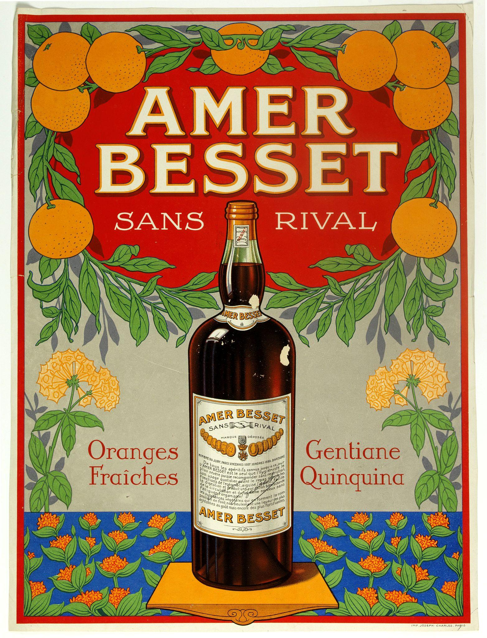 JOSPH-CHARLES -  (Publicity poster)  Amer Besset Sans Rival.