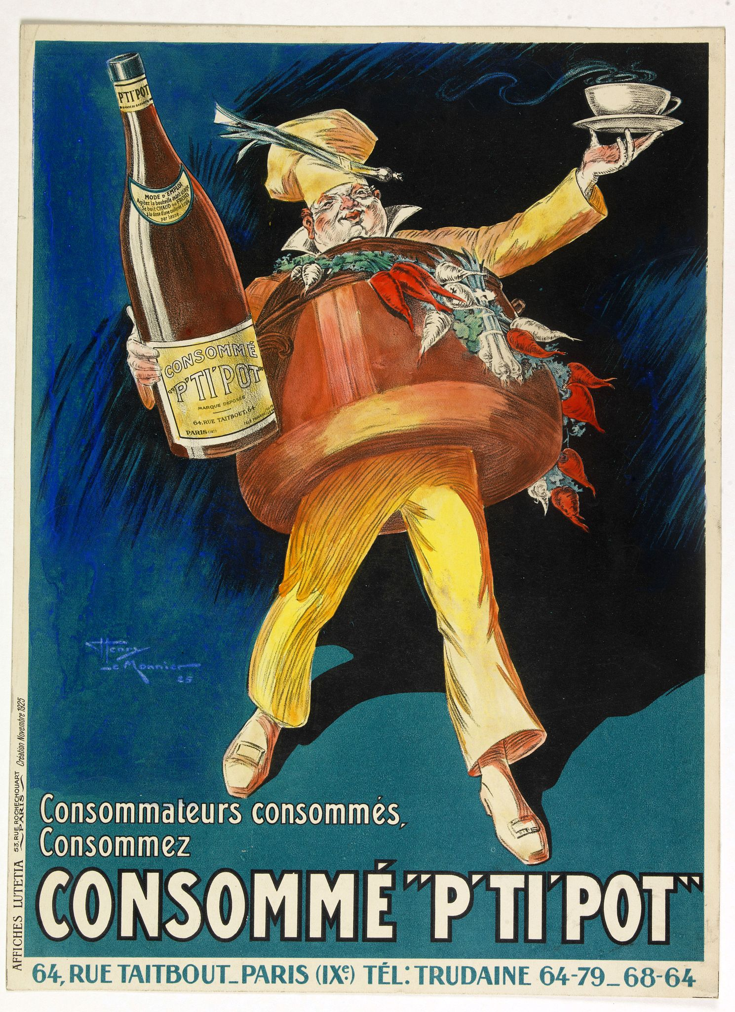 LE MONNIER, Henry -  (Publicity)  Consommé P'ti'pot.