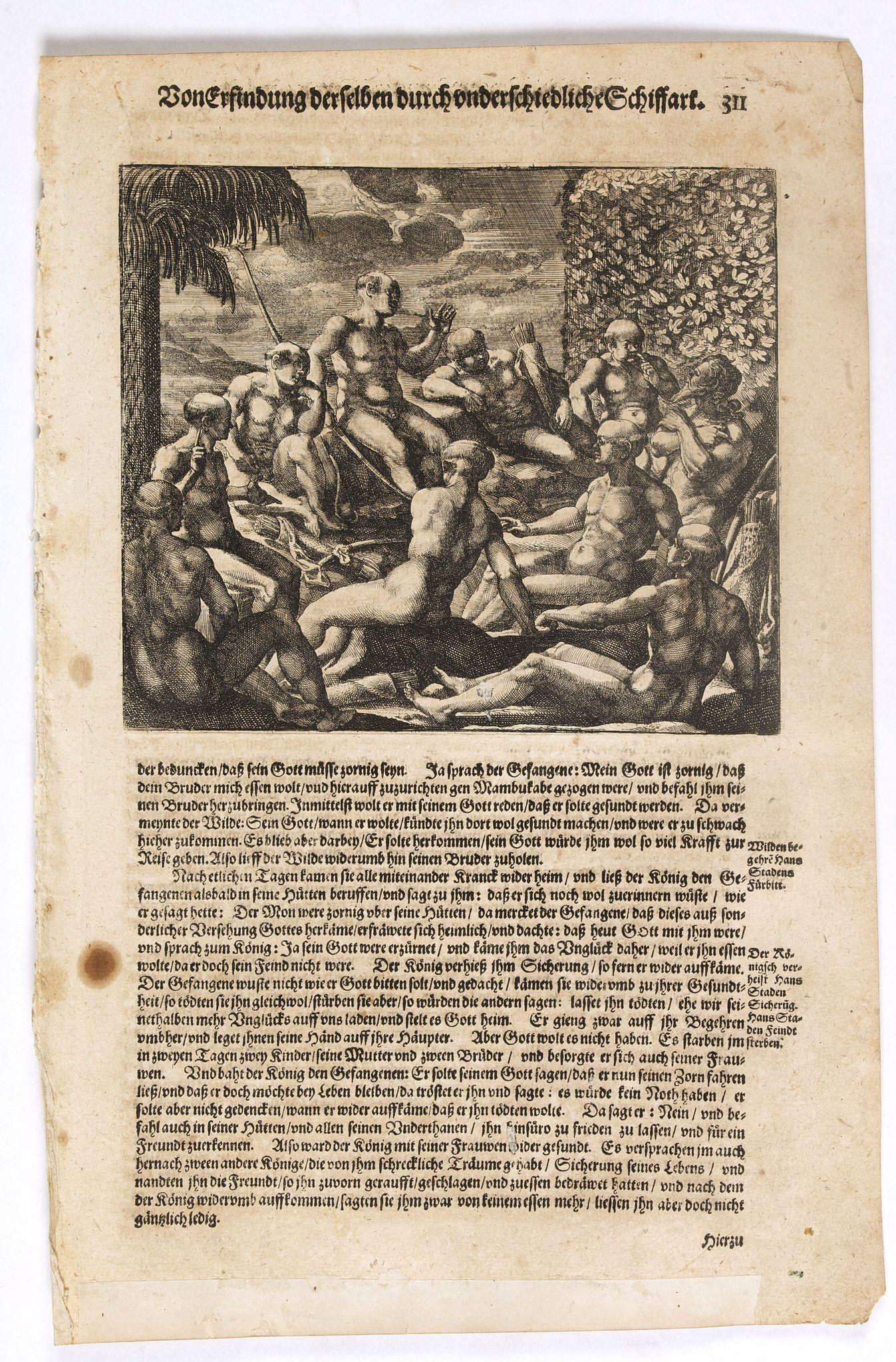 GOTTFRIED, J.L. / DE BRY, T. -  [American history plate].