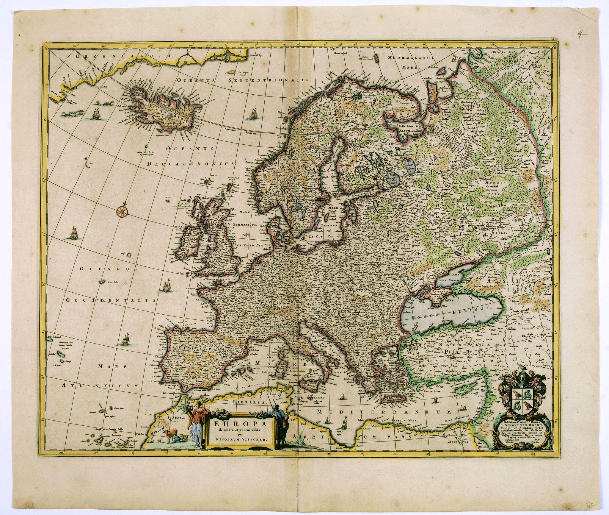 VISSCHER, N. - Europa Delineata et Recens Edita.