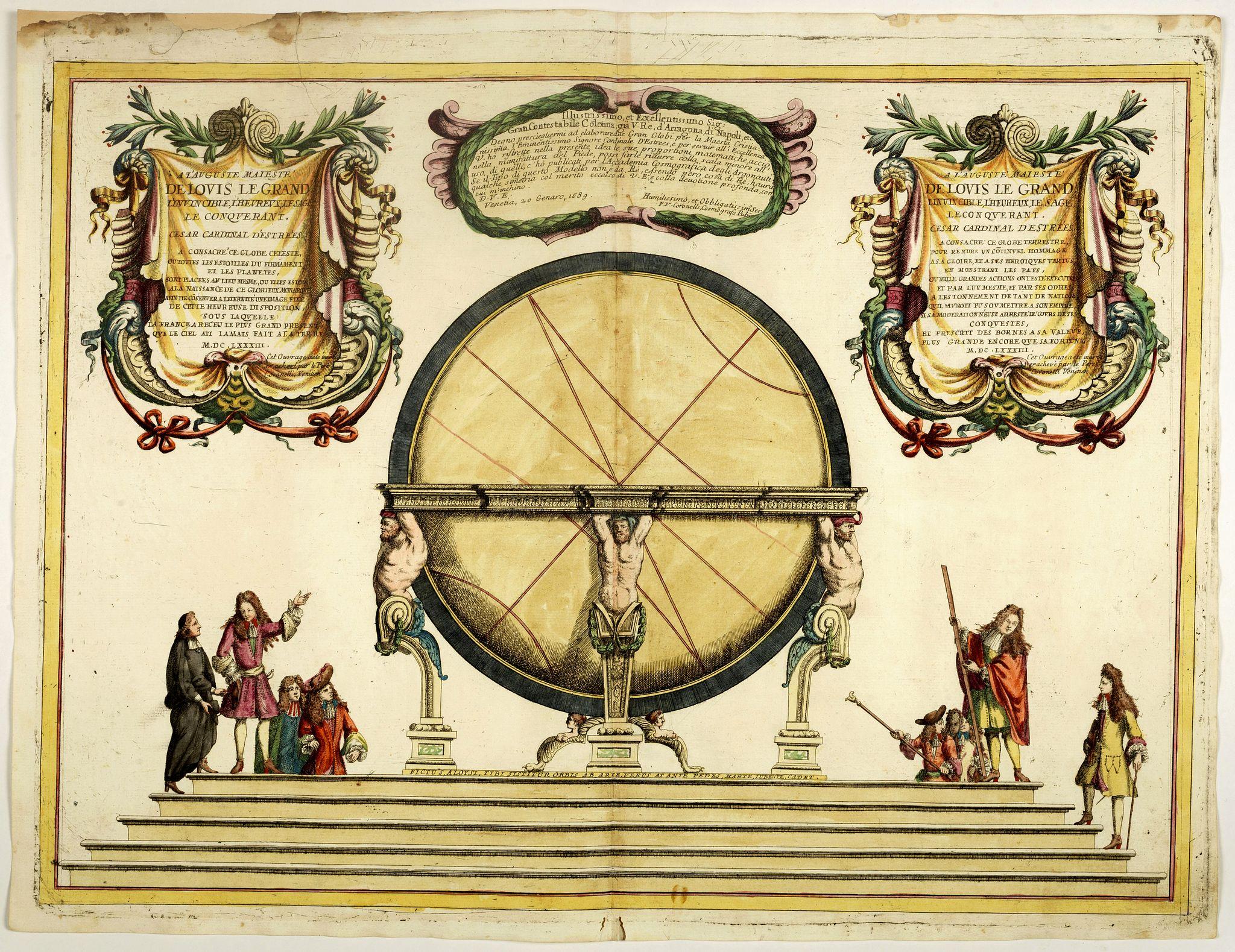 CORONELLI,V.M. -  Illustrissimo, et Eccellentissimo.. Gran Globi ..