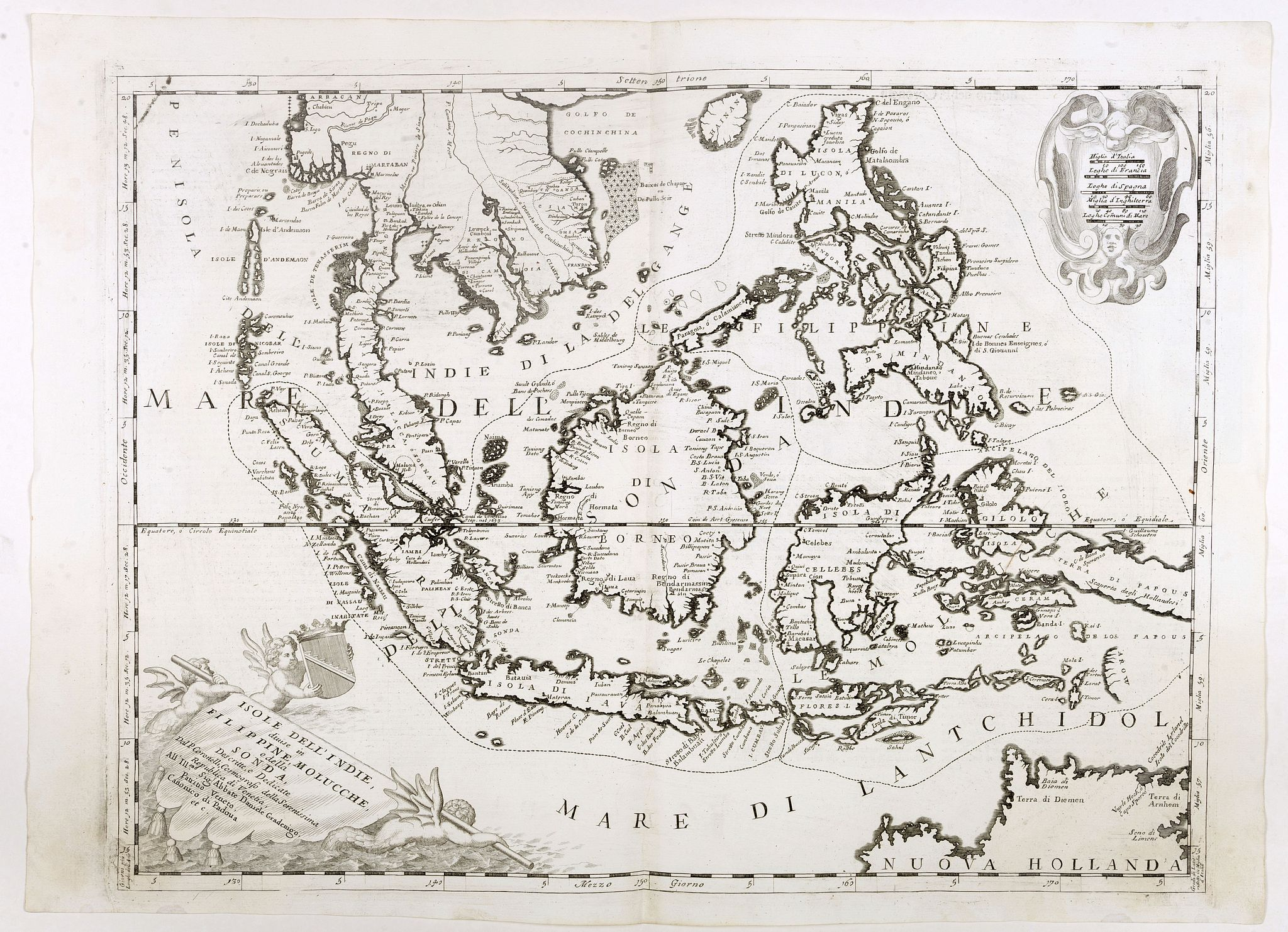 CORONELLI, V.M.,  Isole dell'Indie. . ., antique map, old maps