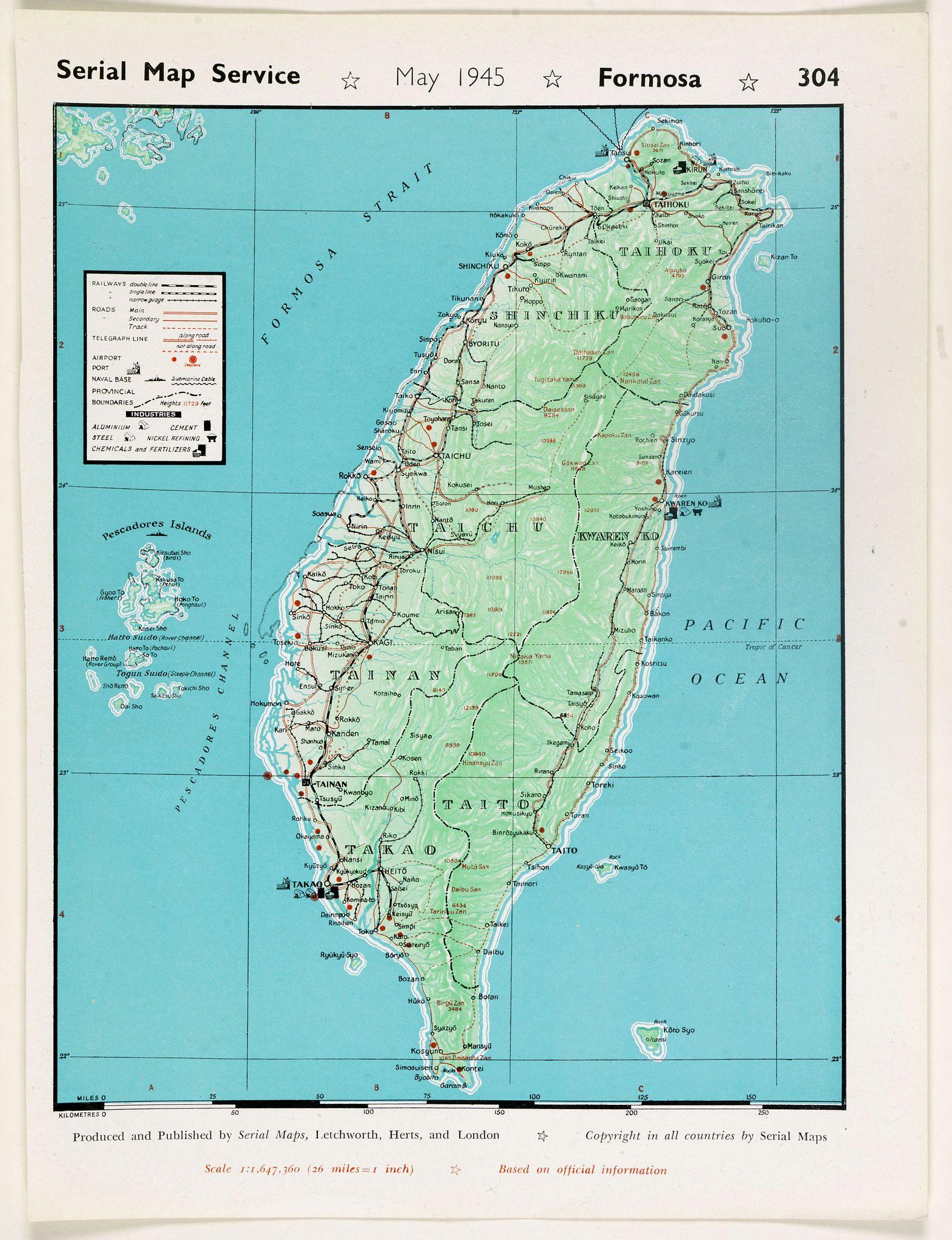 SERIAL MAP SERVICE -  Formosa. (304)