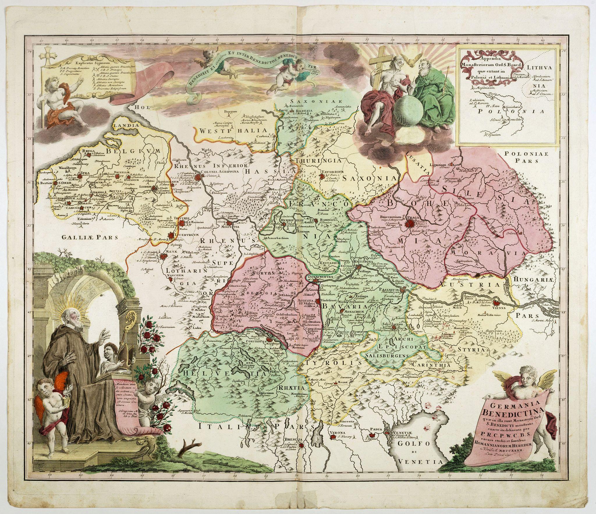 HOMANN, J.B. -  Germania Benedictina quae in illa sunt, Monasteria Ord. S. Benedicti monstrans. . .
