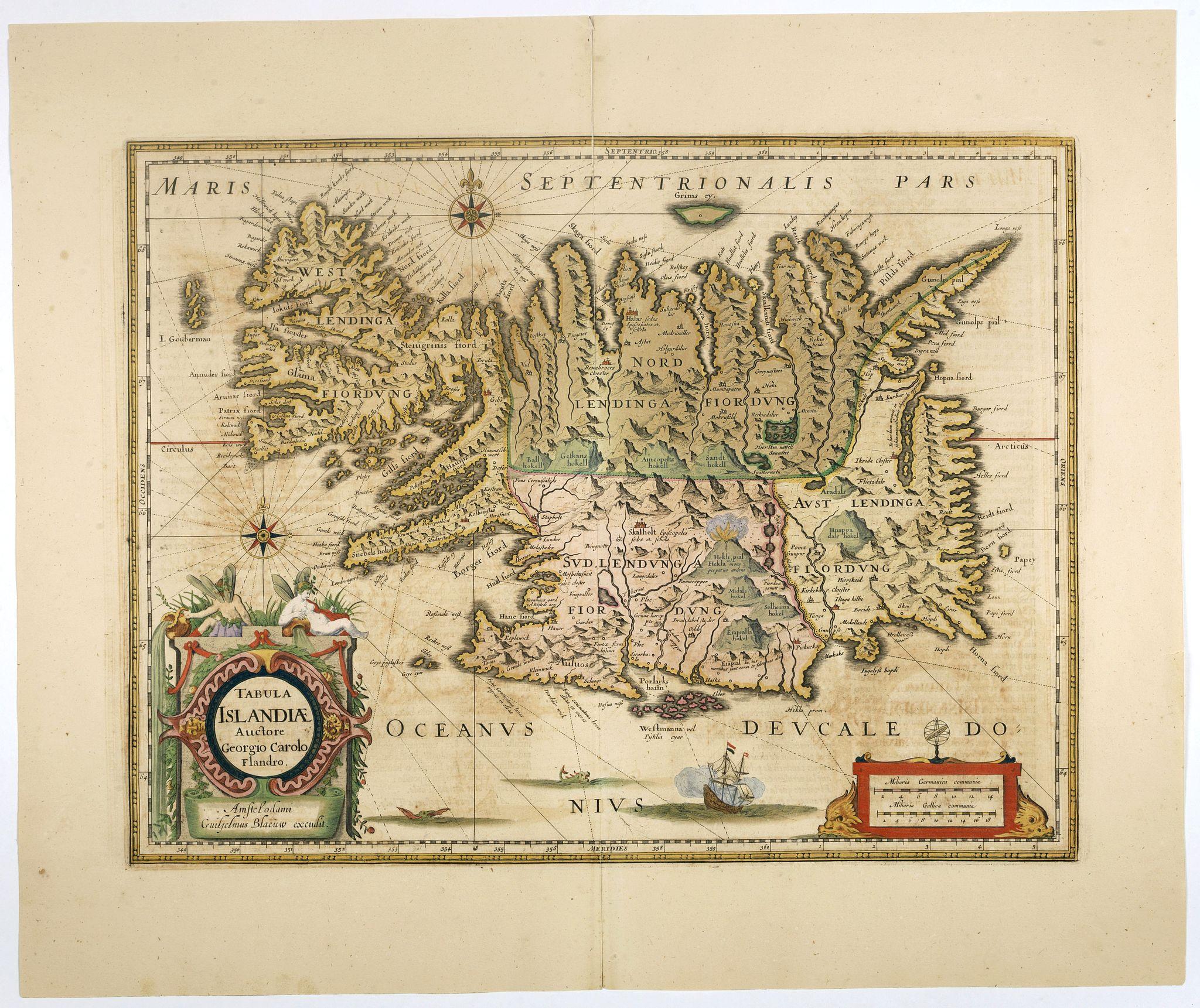 BLAEU, W. -  Tabula Islandiae..