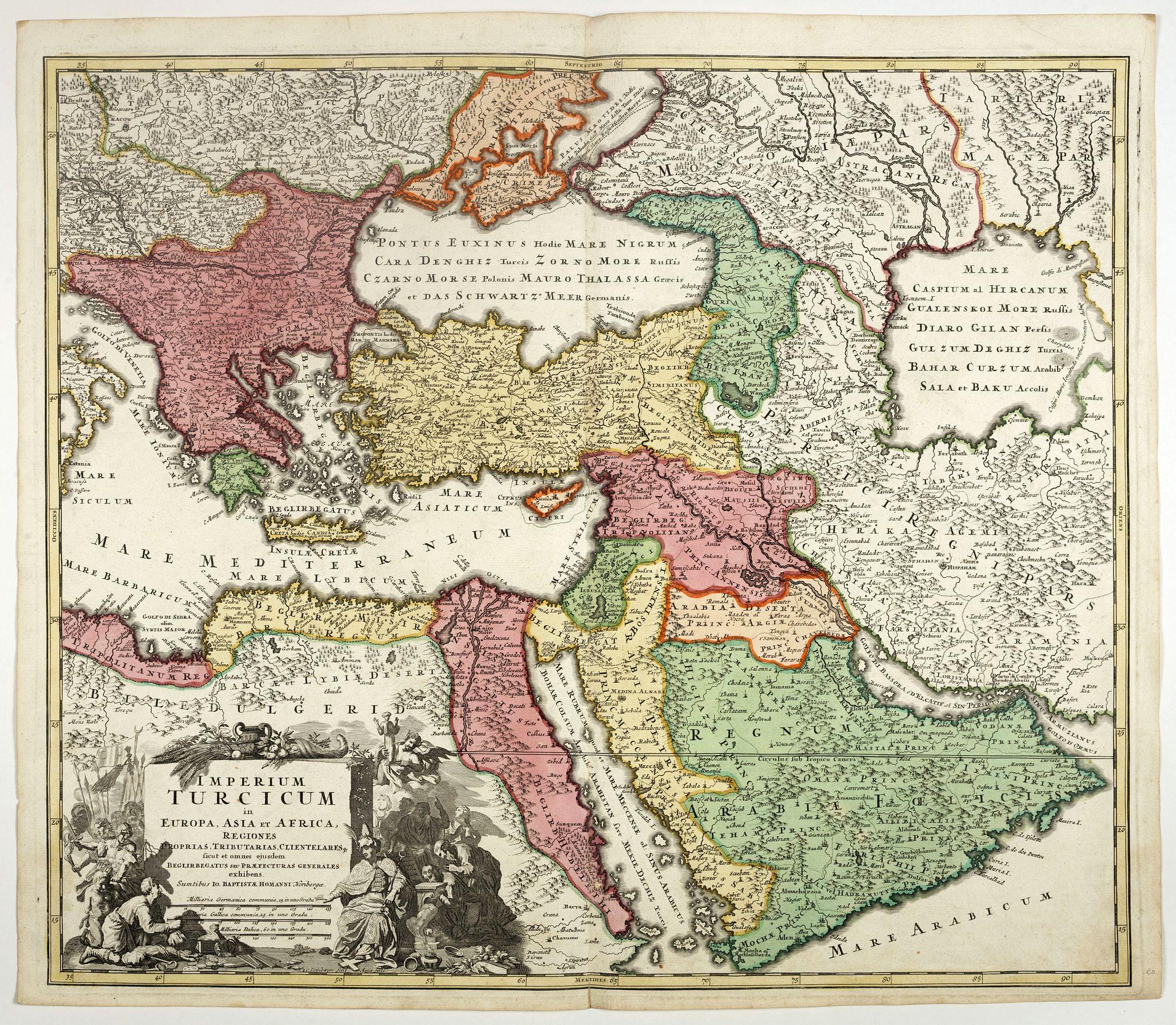 HOMANN, J.B. -  Imperium Turcicum in Europa, Asia et Africa.