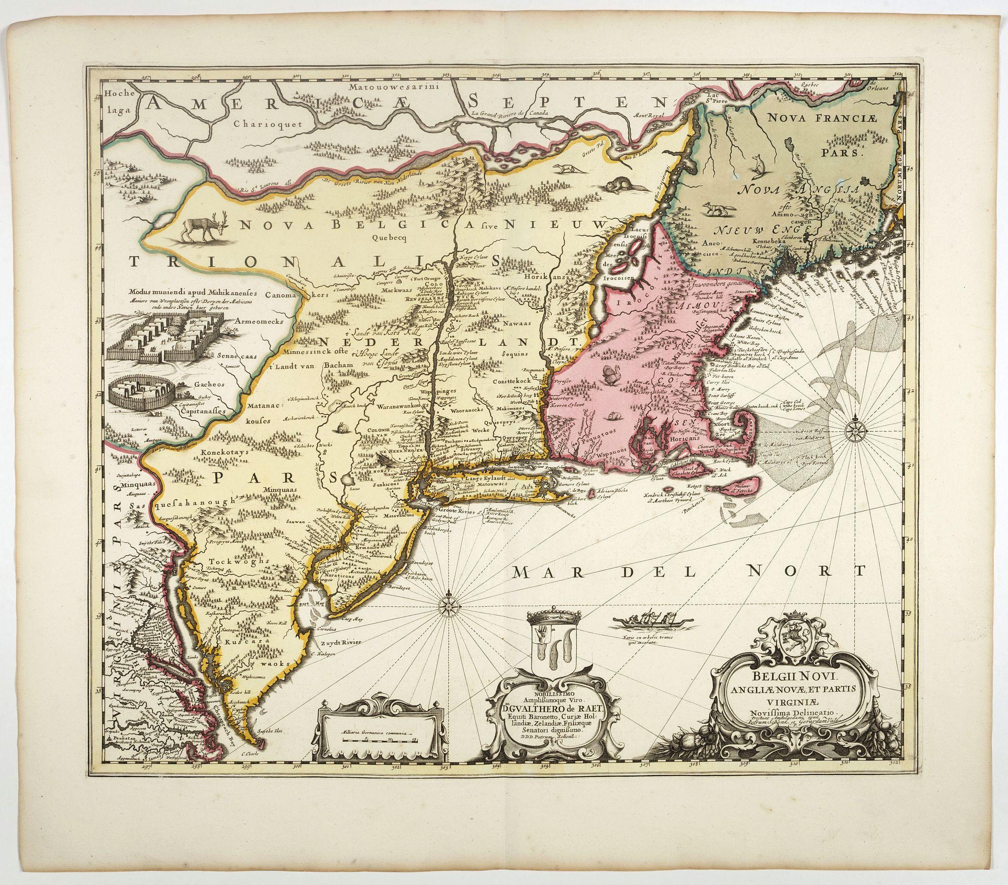 SCHENK, P. -  Belgii novi, angliae novae, et partis Virginiae . . .