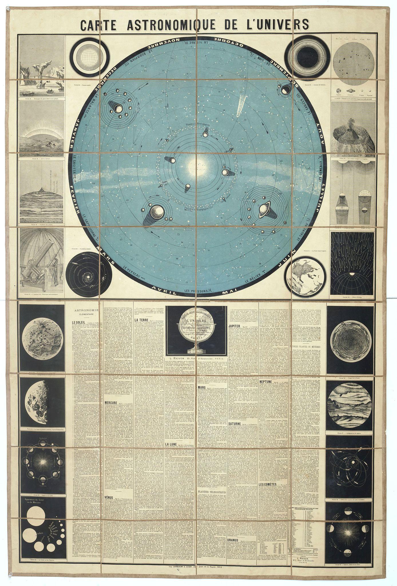 LAPORTE, E. -  Carte Astronomique de L