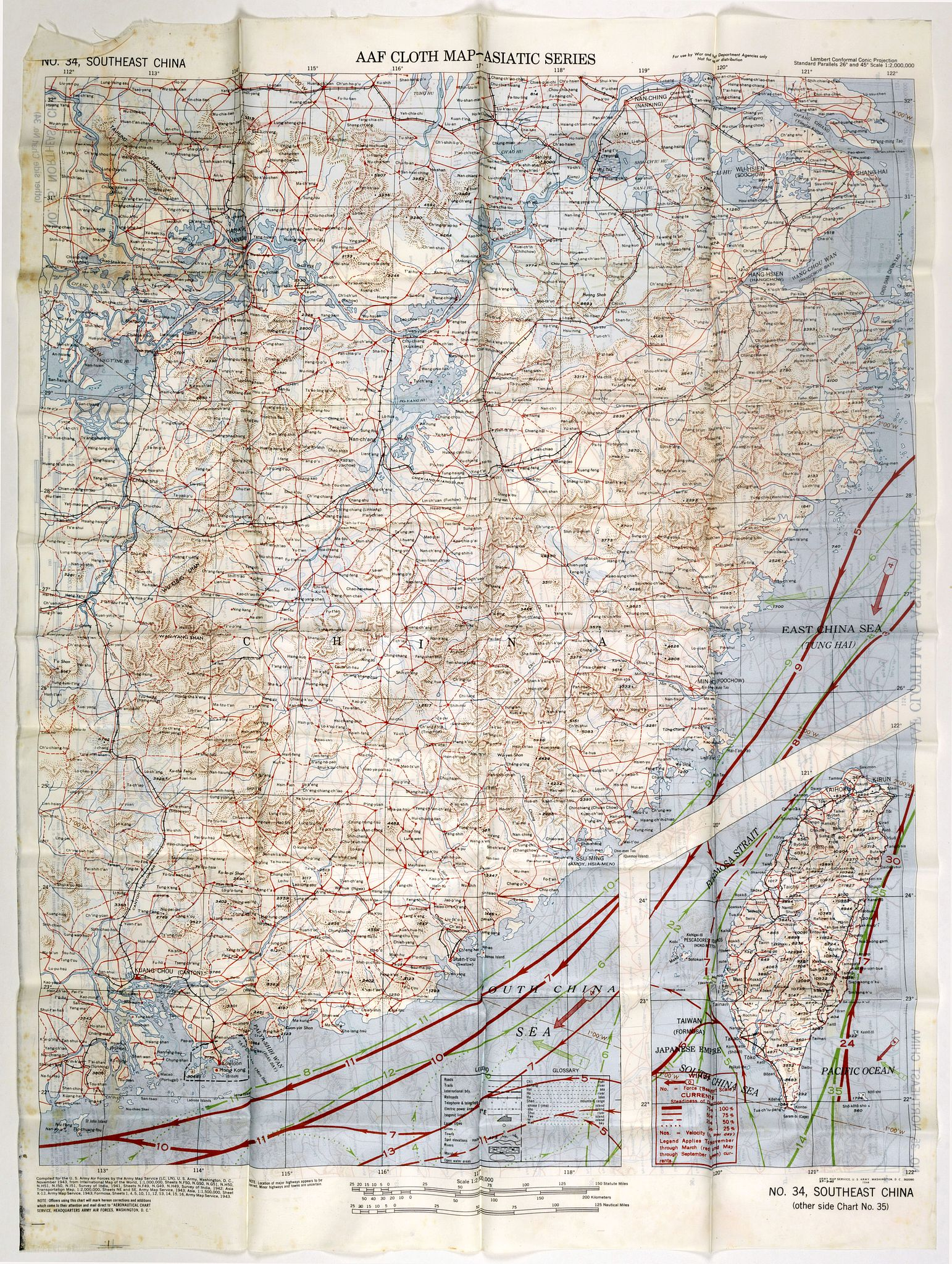 ARMY MAP SERVICE -  [Escape map] N°34 Southeast Asia + Northeast Asia.