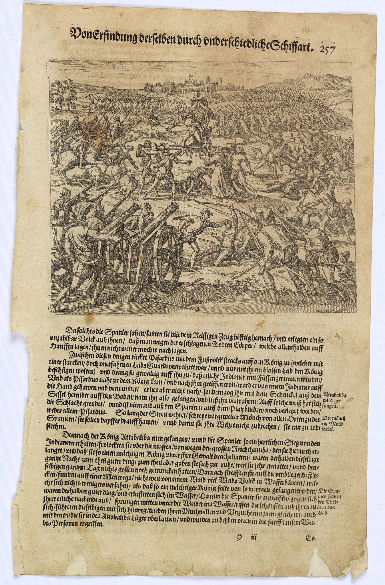 GOTTFRIED, J.L. -  [Atahualpa captured by Spanish.]