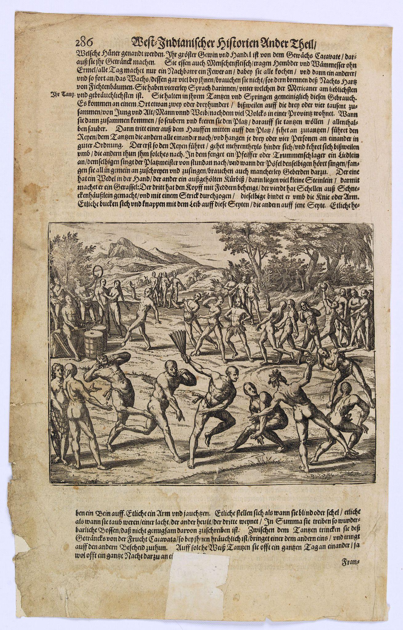 GOTTFRIED, J.L. / DE BRY. -  [Nicaraguan's dancing.]