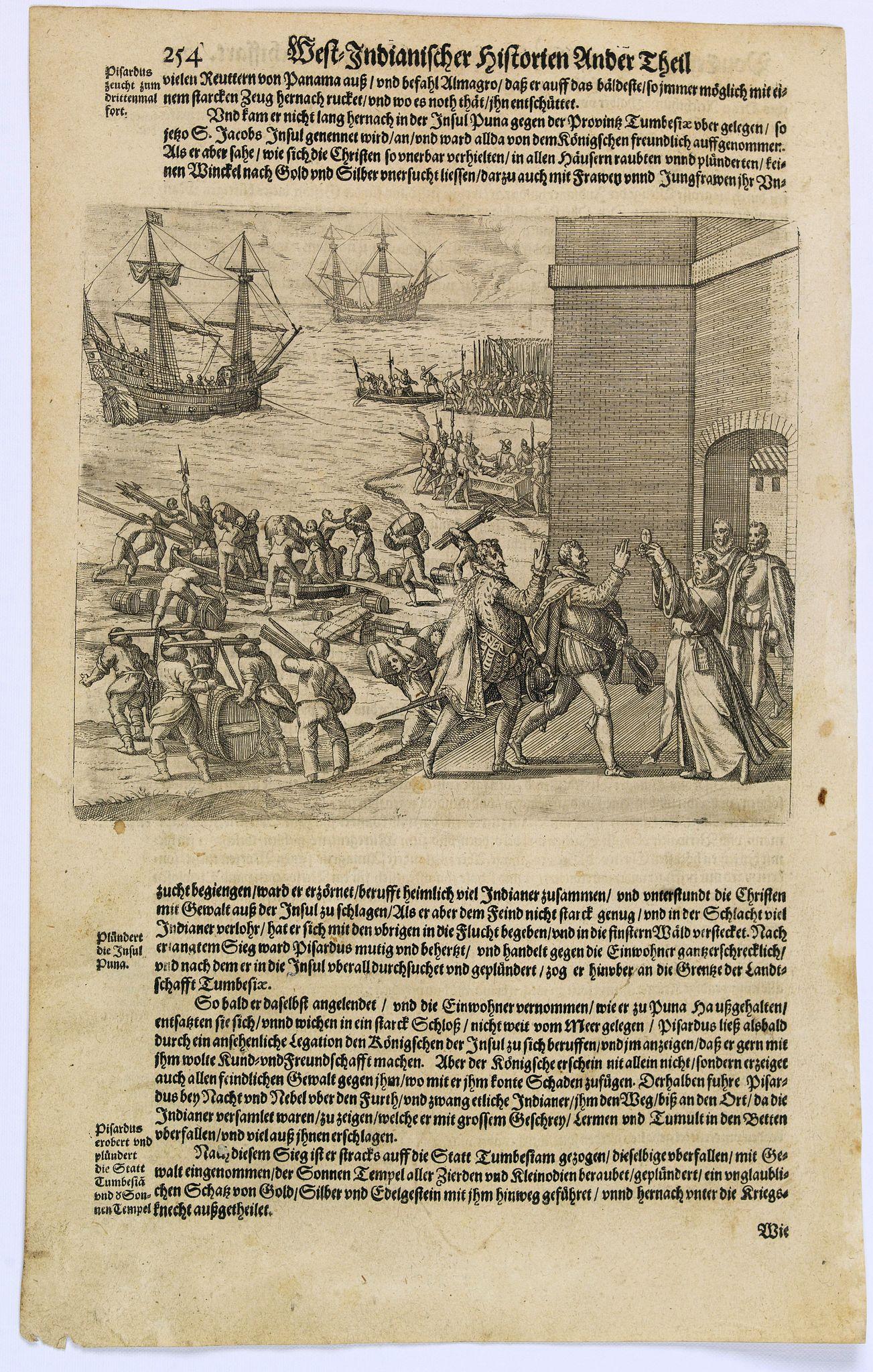 GOTTFRIED, J.L. / DE BRY. -  [Pizarro forms a pact with Almagro.]