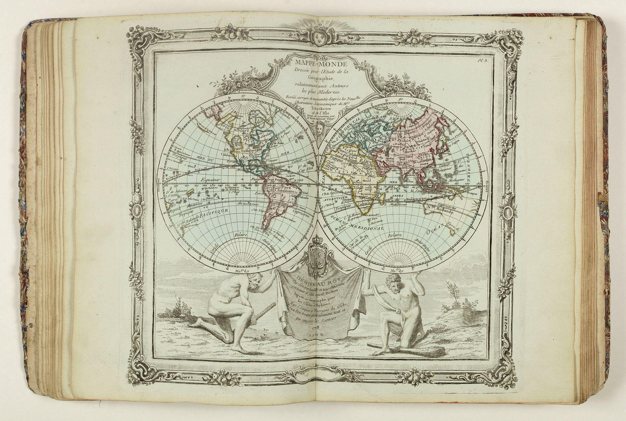 DESNOS, Louis-Charles -  Nouvel Atlas Élémentaire pour l´étude de la Geographie en 28 Cartes générales. Contenant tout ce qui est nécessaire pour la Connoissance Générale du Monde. . .