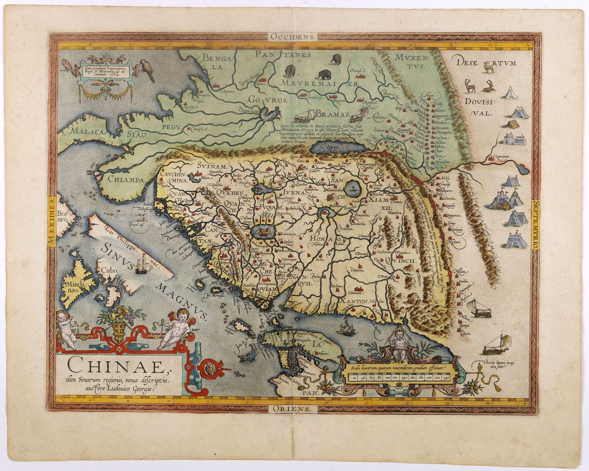 ORTELIUS, A. -  Chinae, olim Sinarum Regionis, nova descriptio. Auctore Ludovico Georgio.