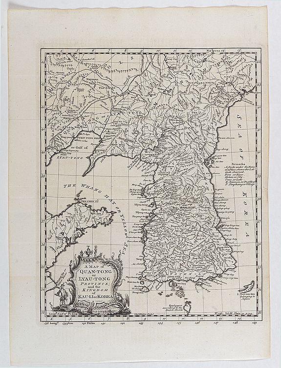KITCHIN, T -  A map of Quan-Tong or Lyau-Tong province, and the kingdom of Kau-Li or Korea . . .