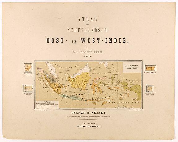 DORNSEIFFEN, I. -  Overzichtskaart van den Nederlandsch oost Indischen Archipel.