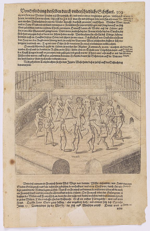 GOTTFRIED, J.L. / DE BRY. -  [How the women tease their captives.]
