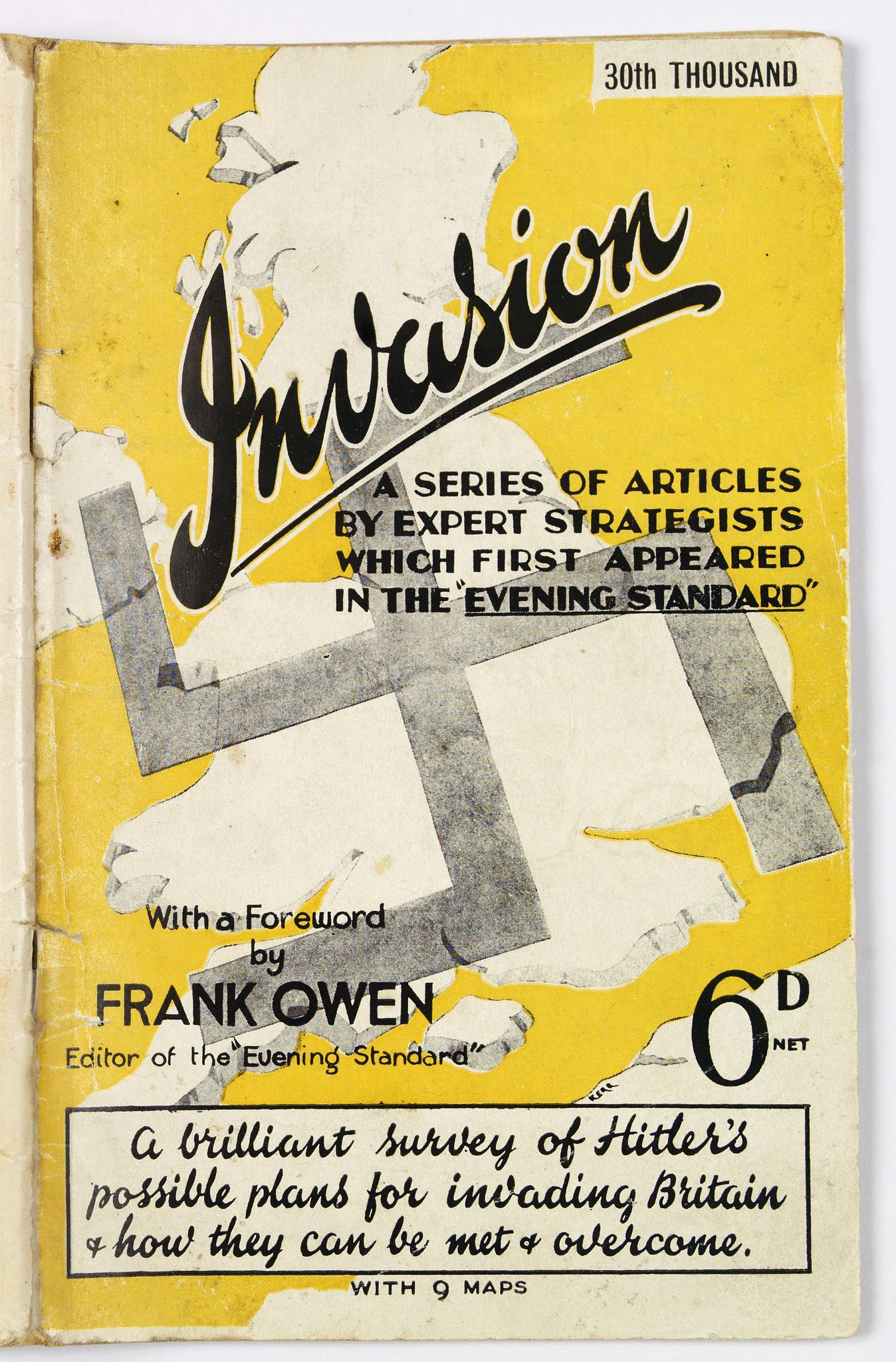HUTCHINSON & CO. LTD., Invasion. A Series of Articles by Expert Strategists with 9 maps., antique map, old maps