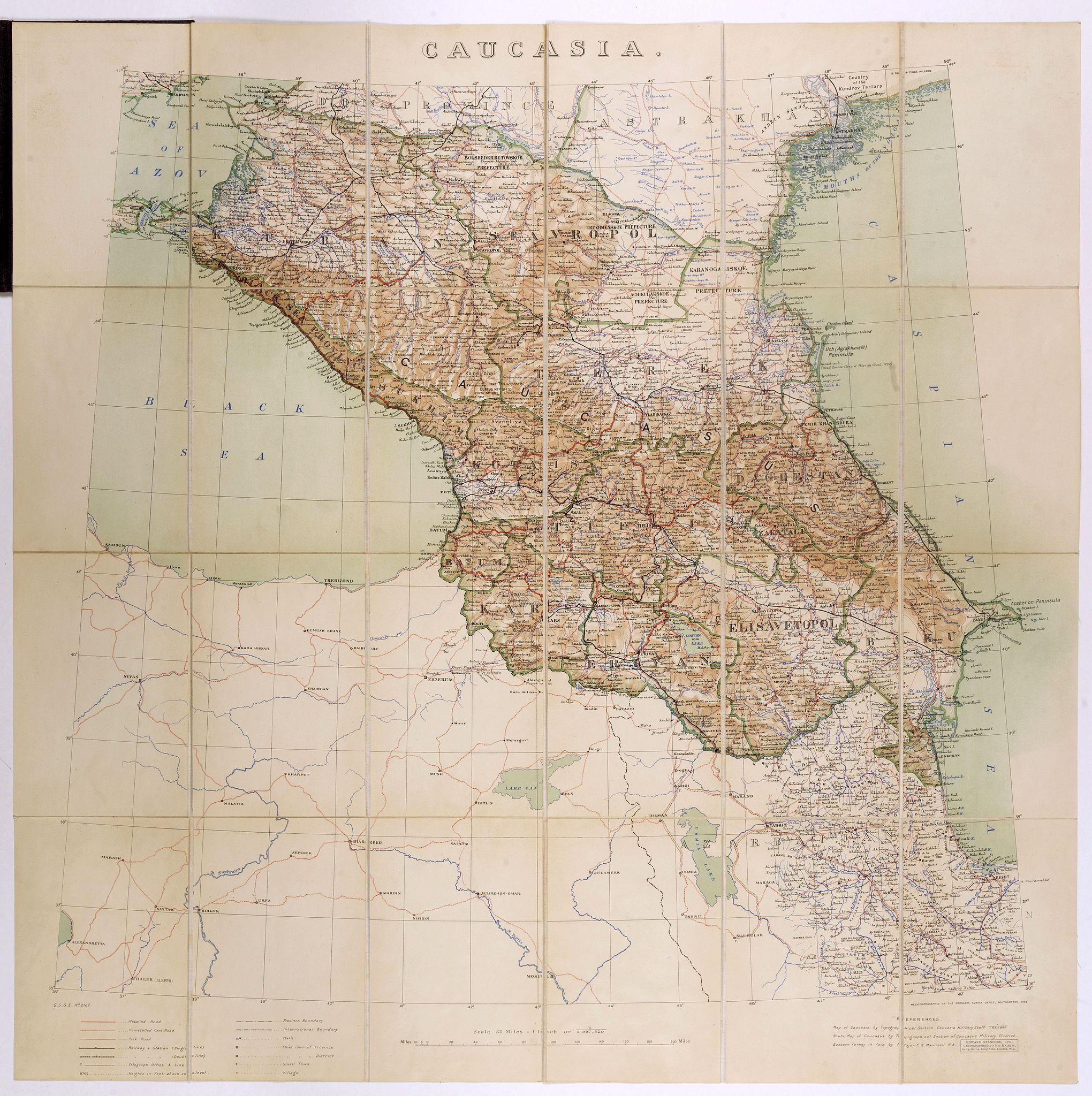 STANFORD, E.,  Caucasia., antique map, old maps