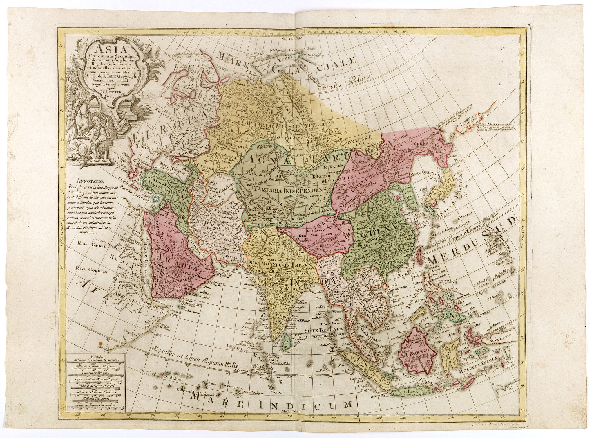 LOTTER, T.C. -  Asia Concinnata Secundum Observationes Academiae Regalis . . .