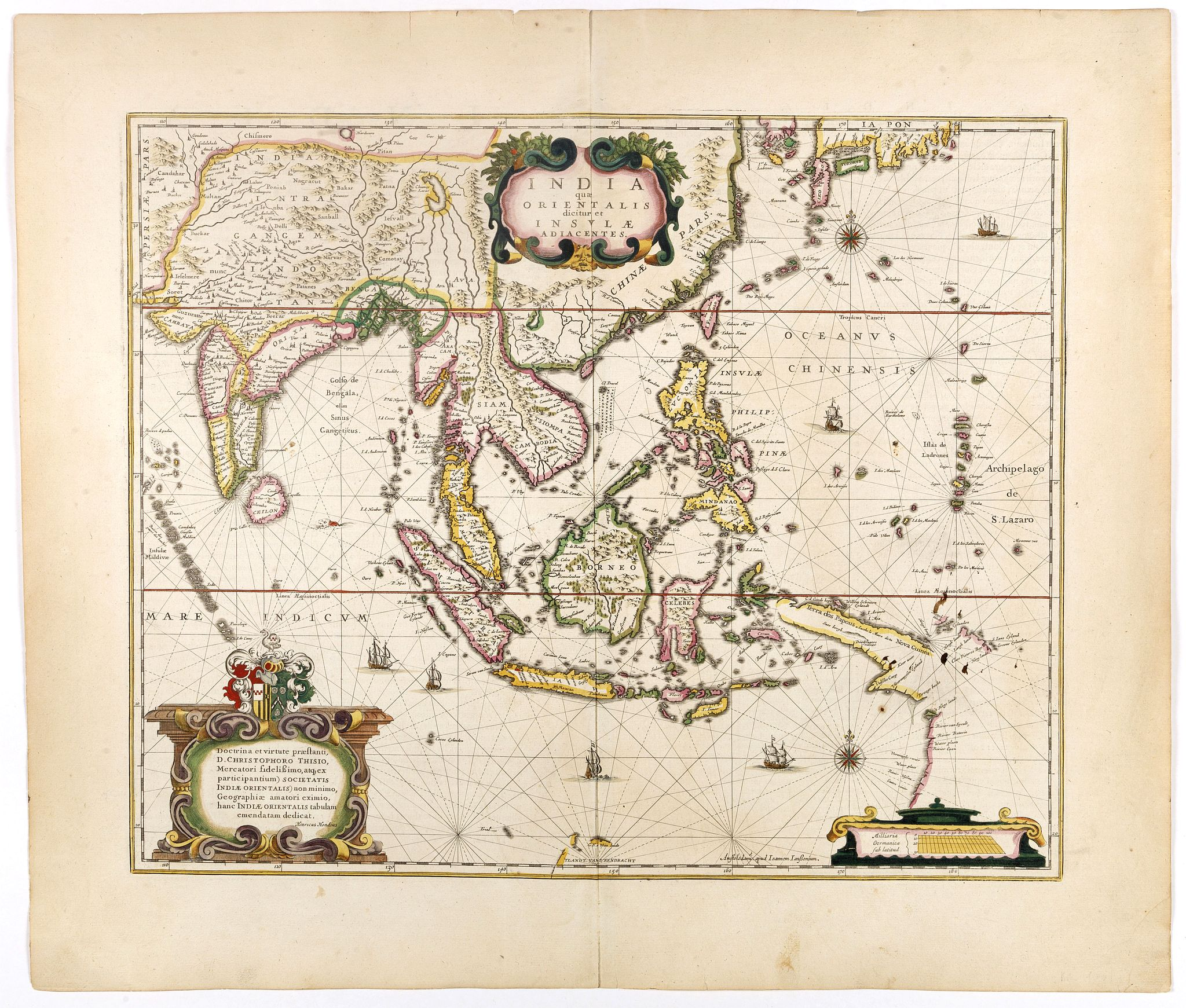 HONDIUS, H. -  India quae Orientalis dicitur, et Insulae Adiacentes.
