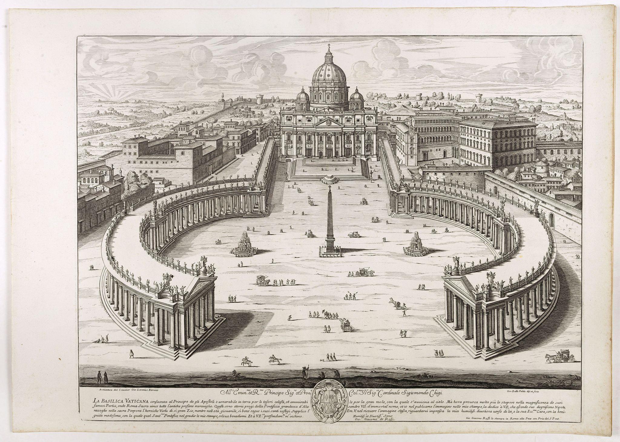 DE ROSSI, G. -  La Basilica Vaticana consacrata al Principe de gli Apostoli . . .