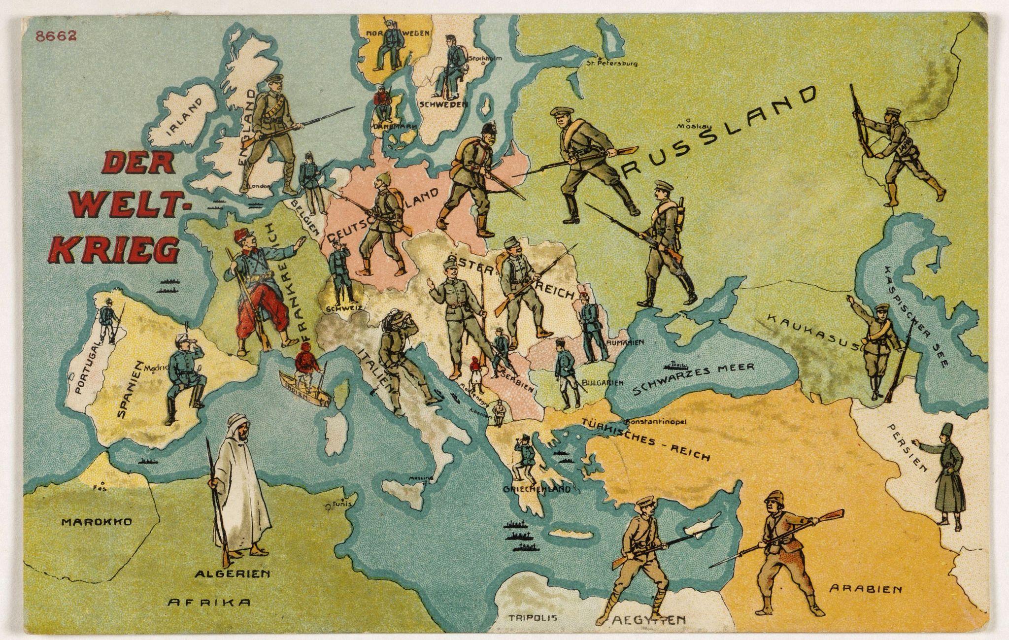 ANONYMOUS -  Der Weltkrieg. World War I post card)