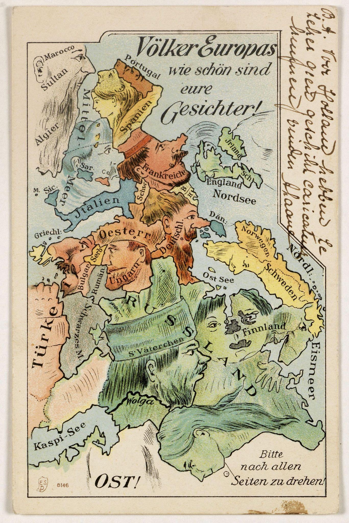 ANONYMOUS -  Völker Europas wie schön sind eure Geschichter. (World War I post card)