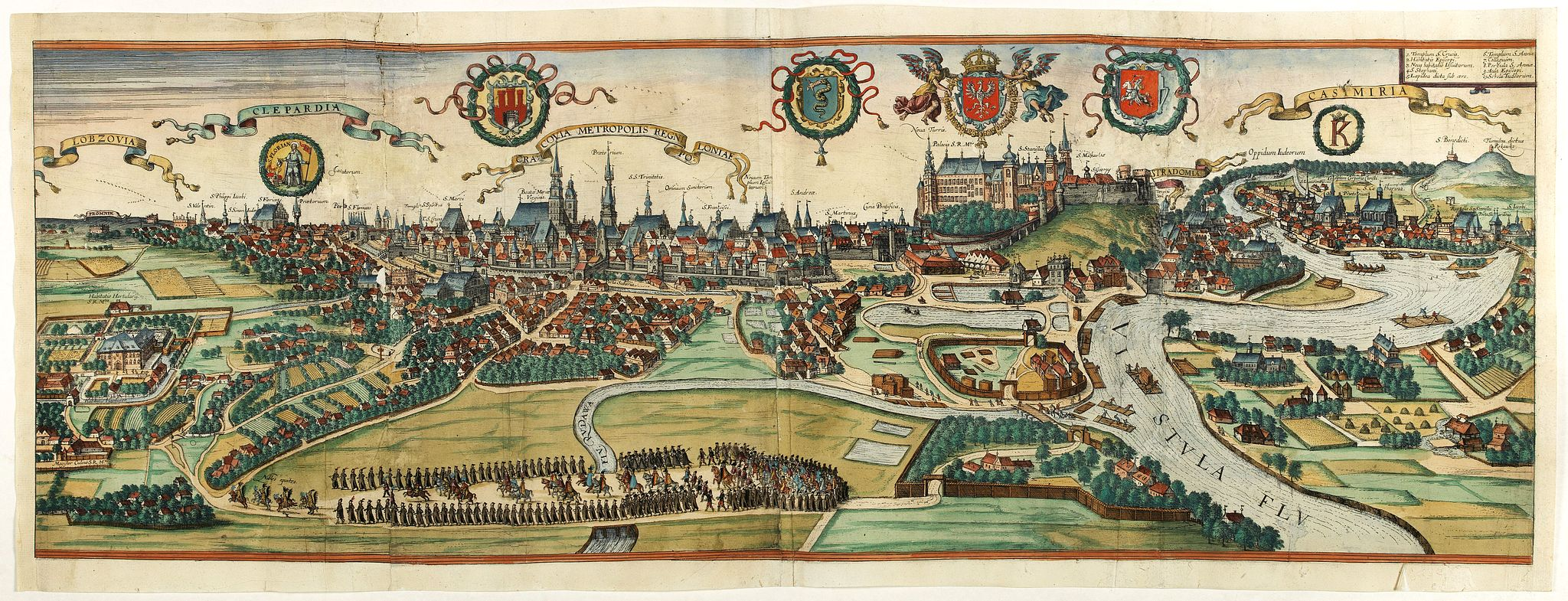 BRAUN, G. / HOGENBERG, F. -  Cracovia Metropolis Regni Poloniae.