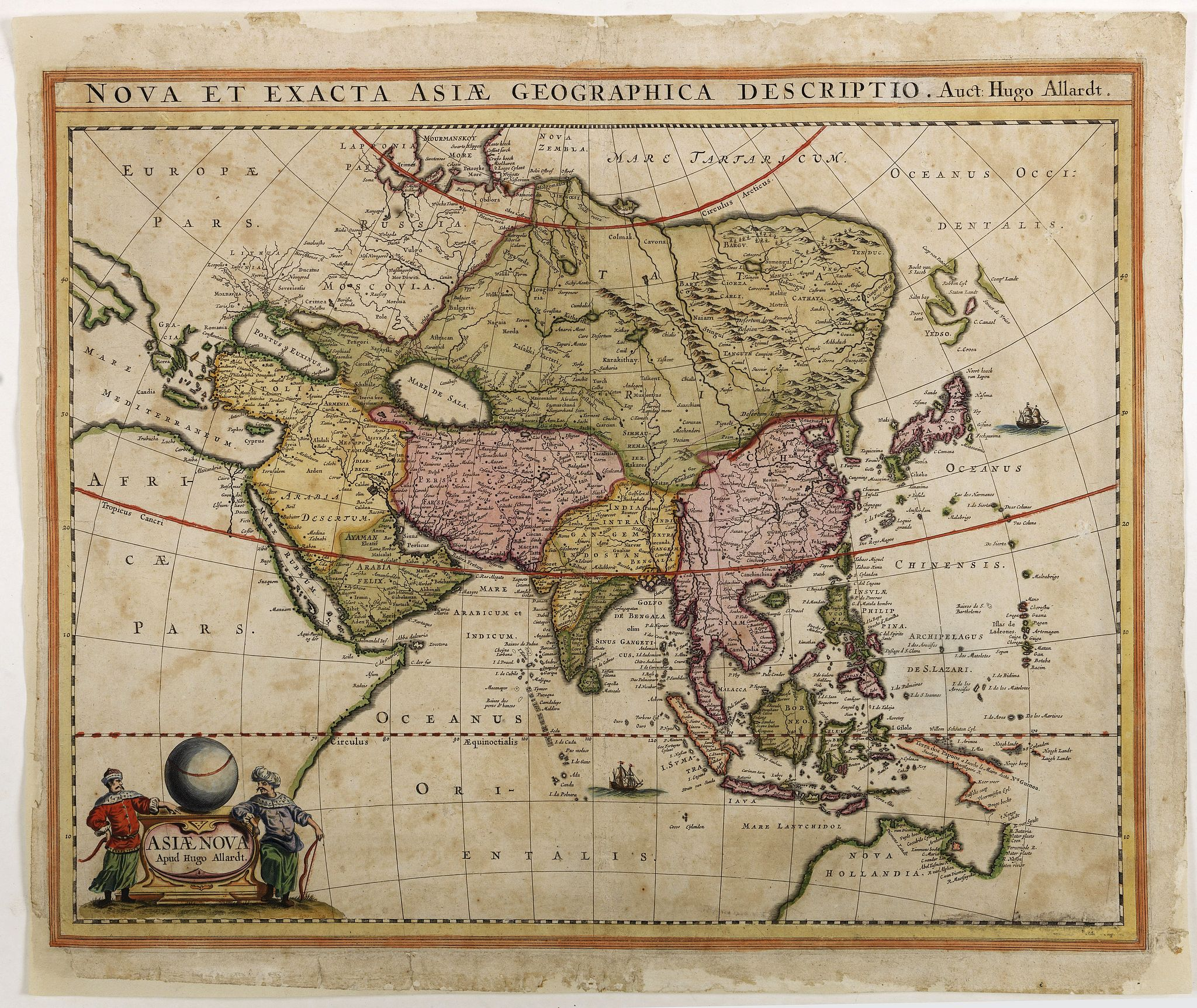 ALLARDT, H. -  Asiae Nova Apud Hudo Allardt. / Nova et exacta Asiae geograpicha descriptio.