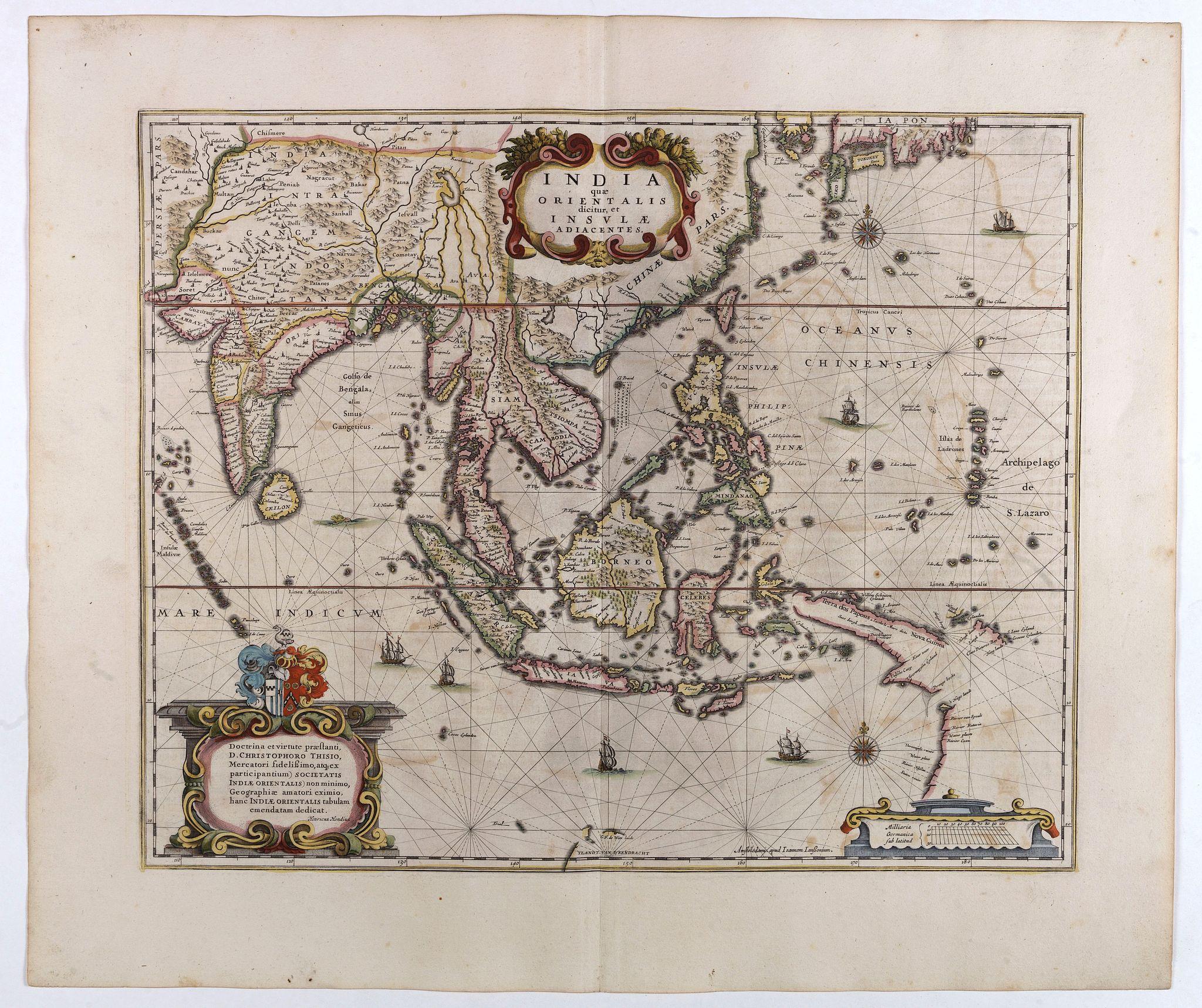 JANSSONIUS, J. / HONDIUS, H. -  India quae Orientalis dicitur, et Insulae adiacentes.