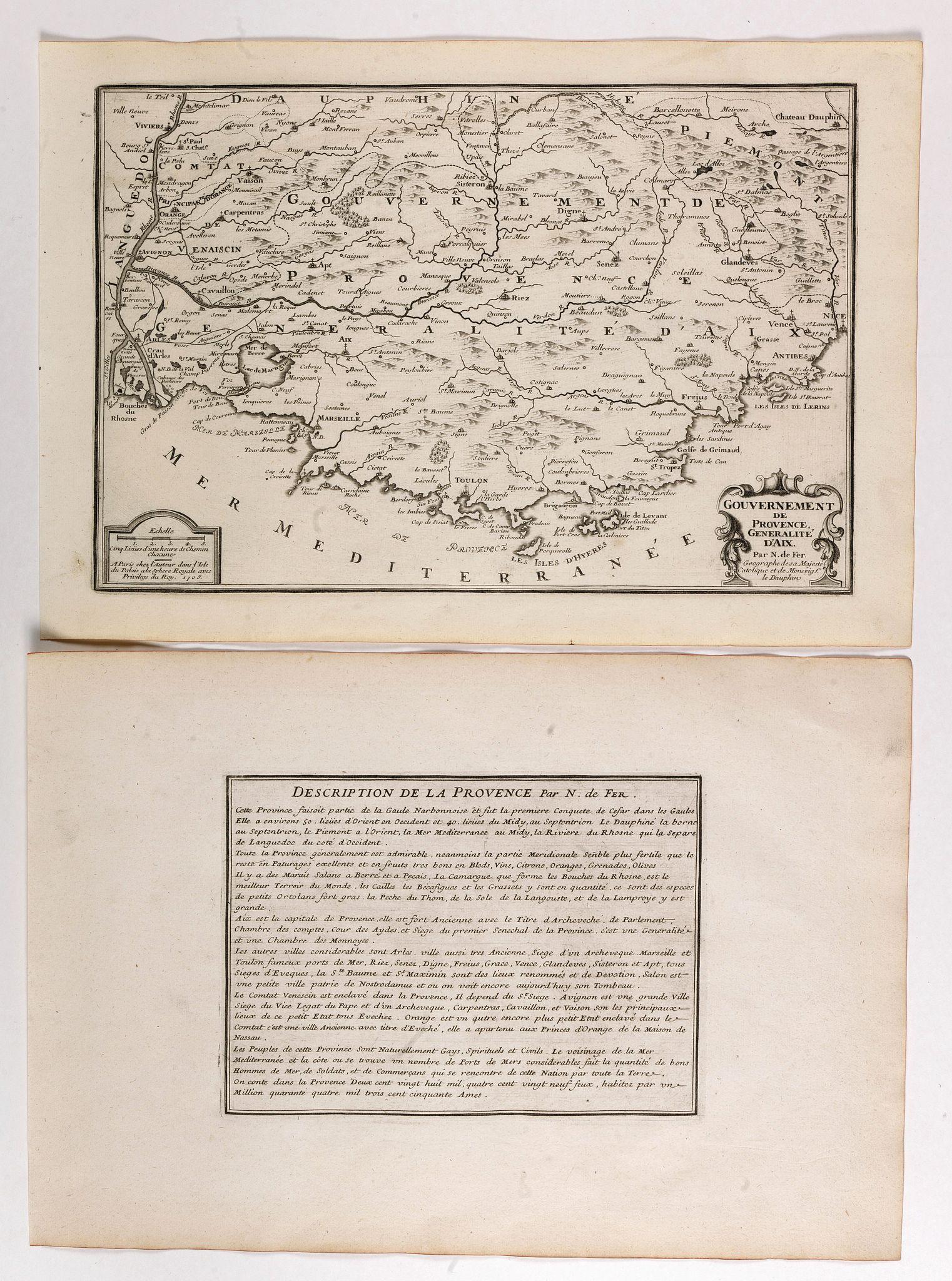 DE FER, N. -  Gouvernement de Provence, generalité d