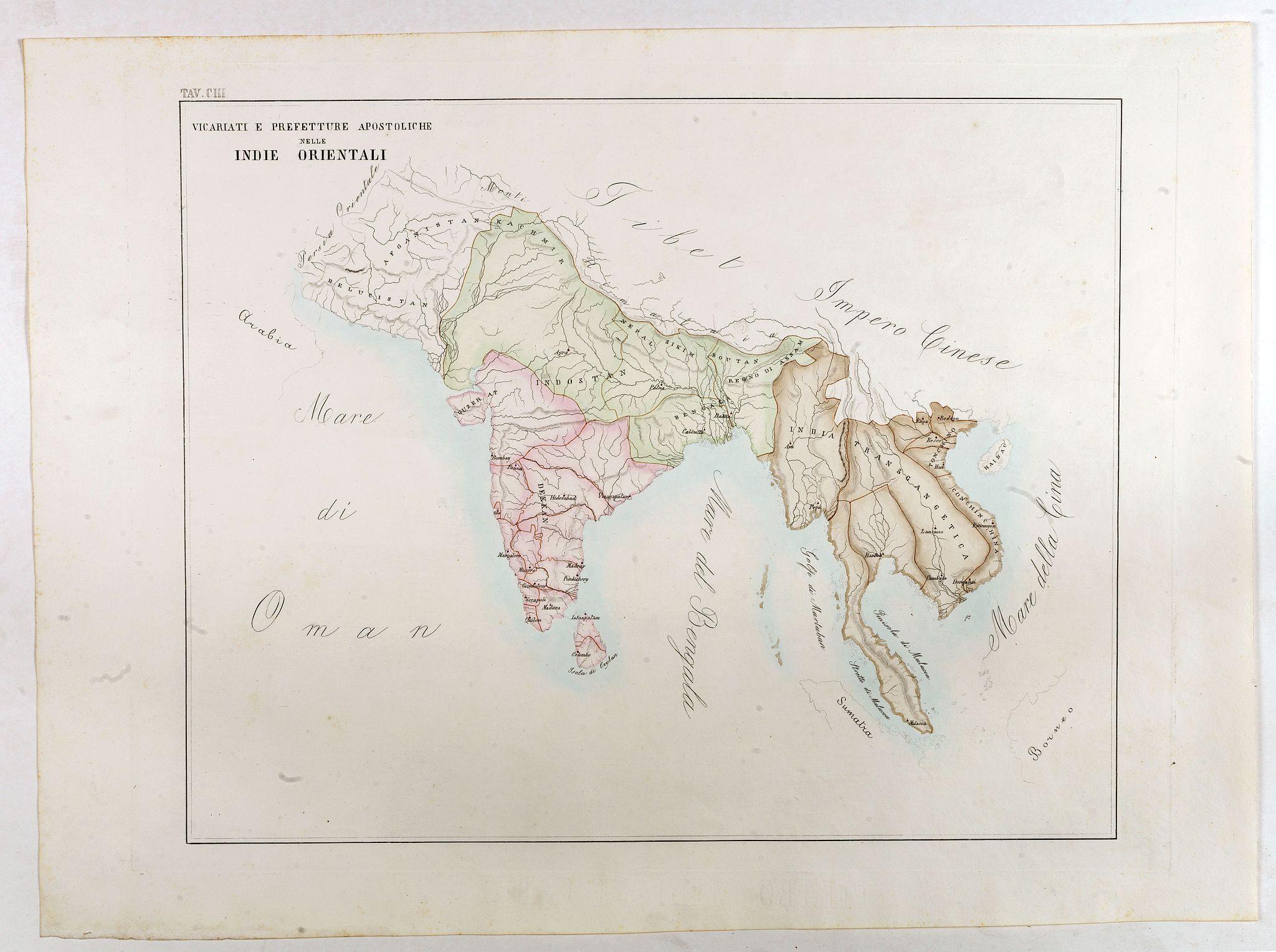 PETRI, G. -  Vicariati E prefetture apostoliche nelle Indie Orientalis
