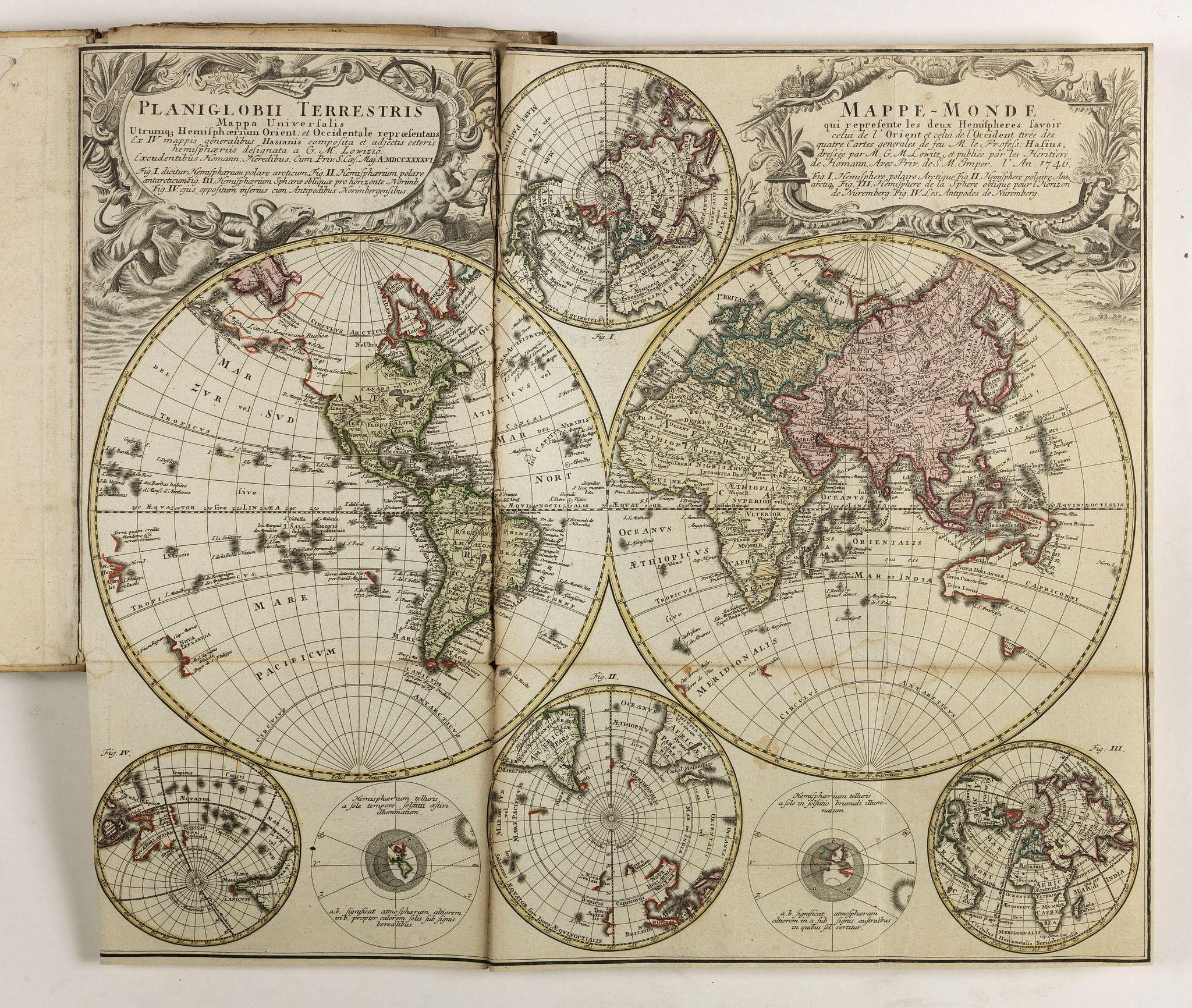 HOMANN HEIRS. -  (Atlas with 23 maps by Homann)