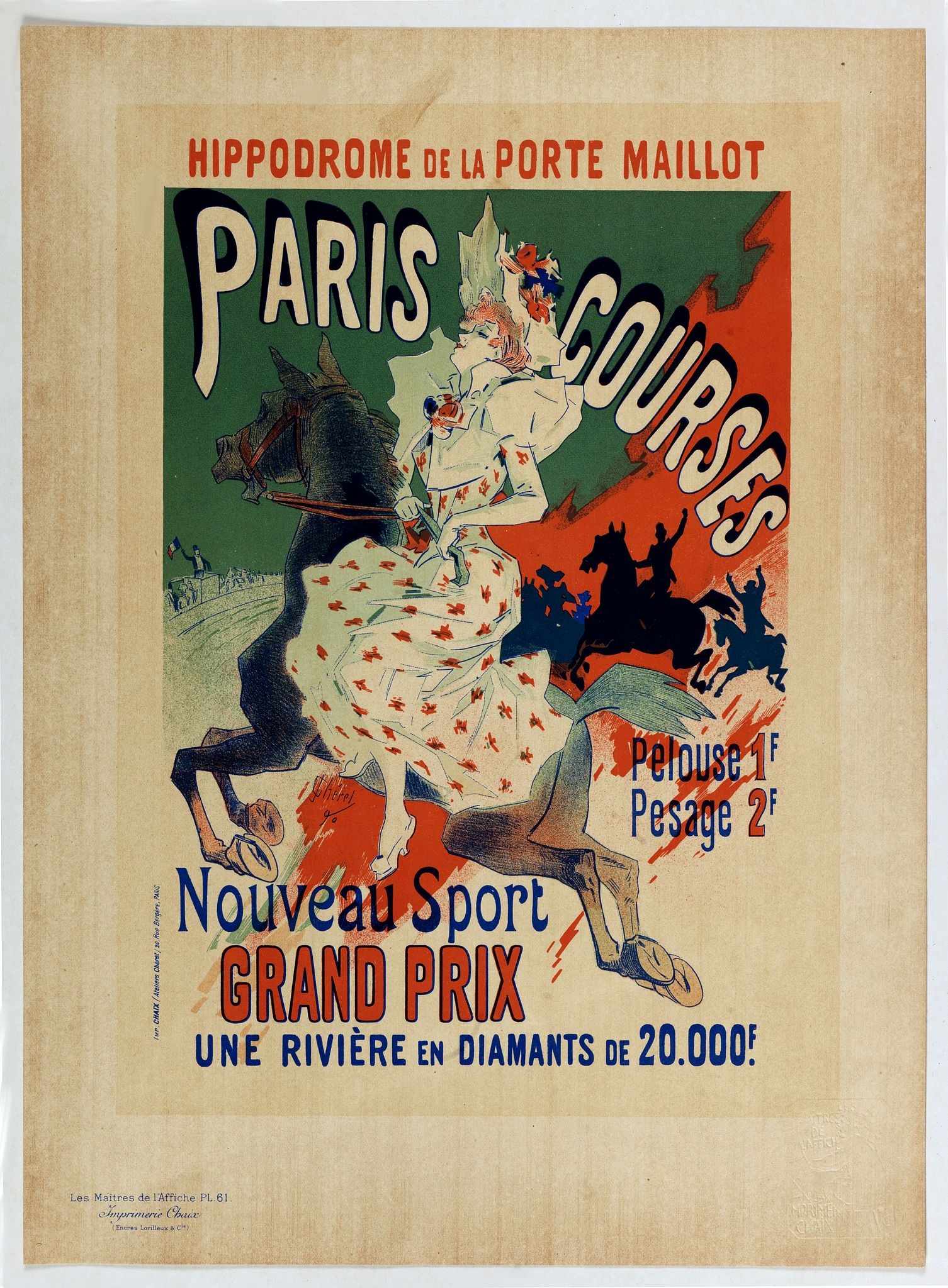 CHERET, J. -  Hippodrome de la porte Maillot. Paris Courses.