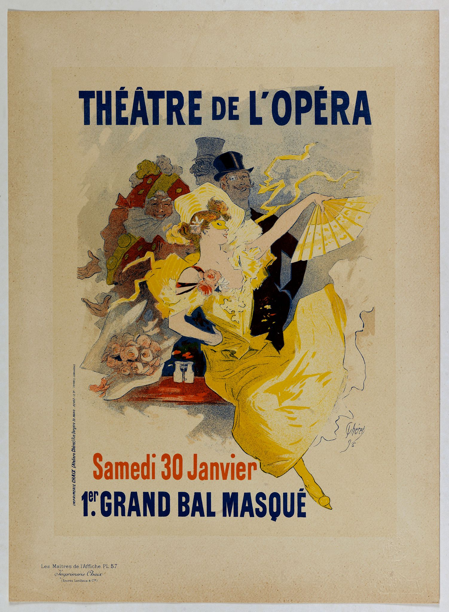 CHERET, J. -  Théâtre de l'Opéra.